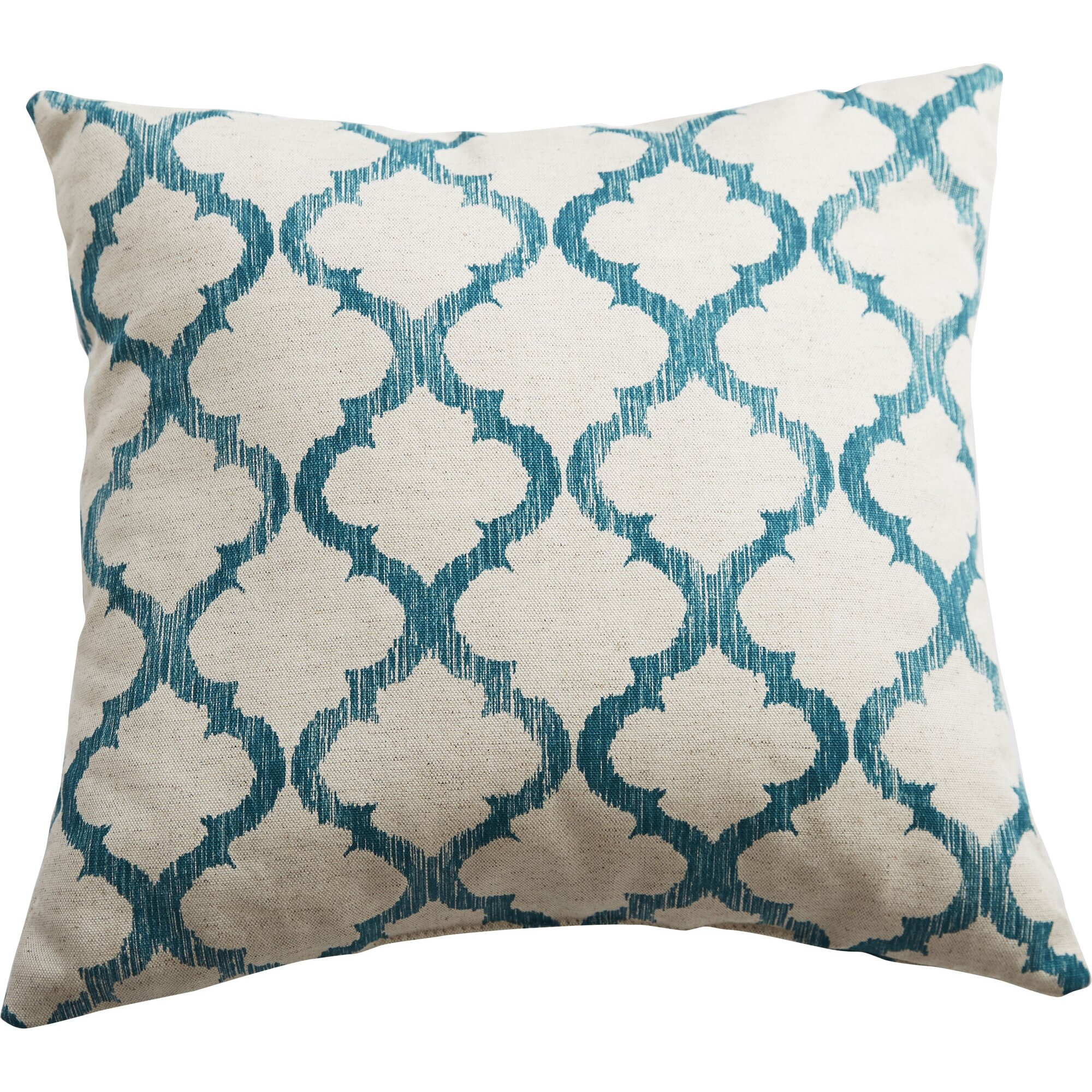 Swan Dye and Printing Linen Throw Pillow & Reviews Wayfair