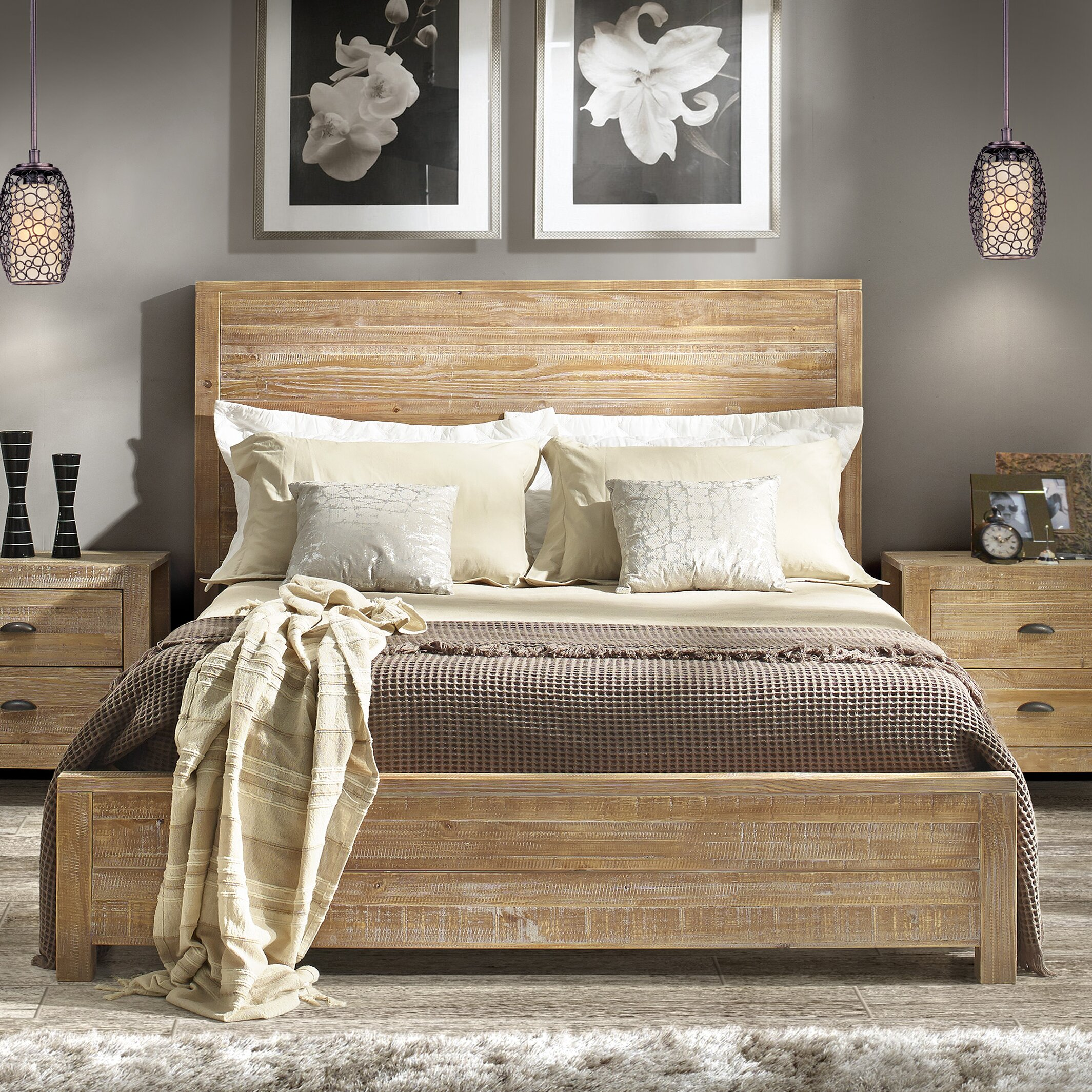 Bed Frame Wood Beds Bed: Grain Wood Furniture Montauk Bed Frame & Reviews
