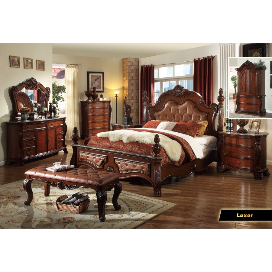 Meridian Furniture USA Luxor Panel Customizable Bedroom