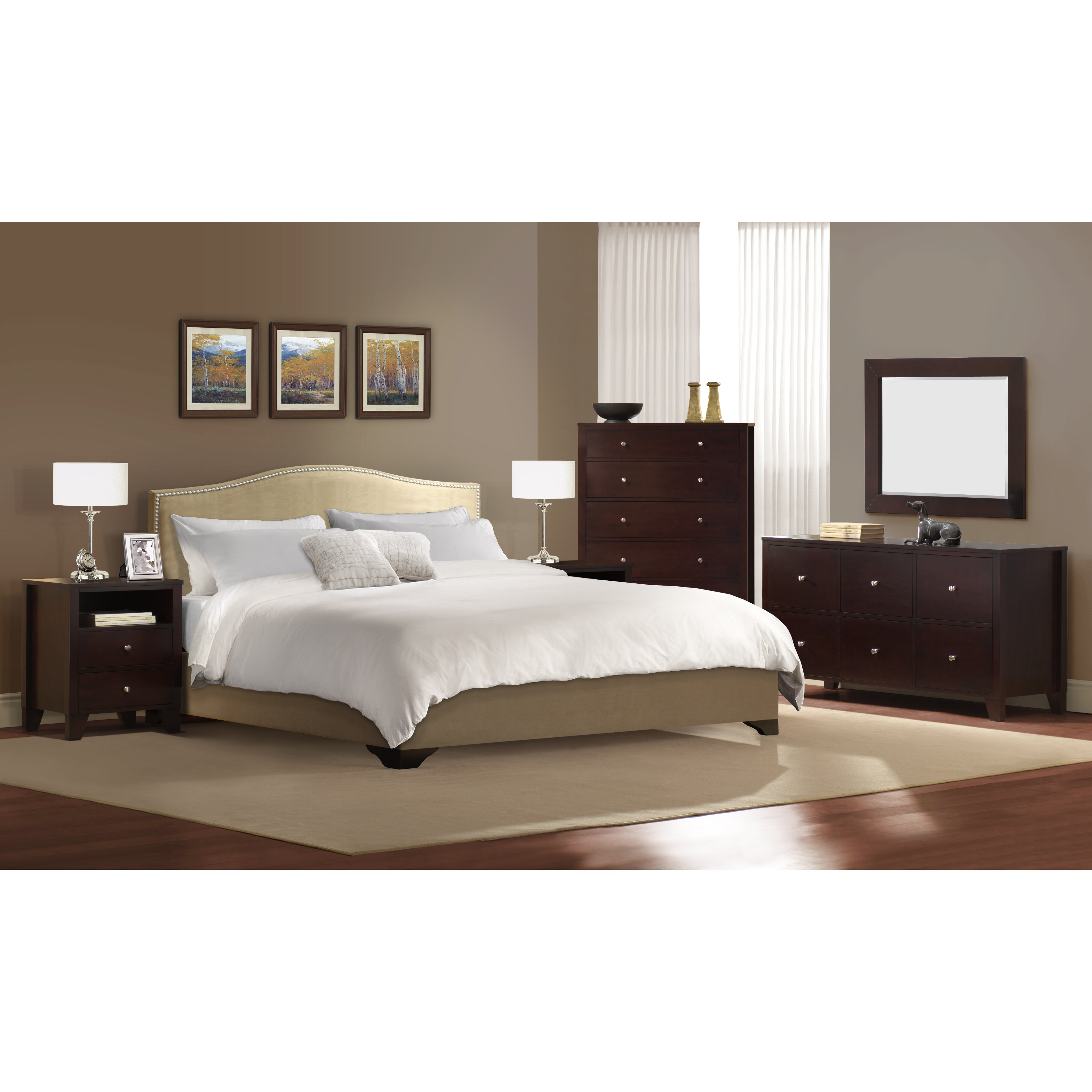 5 Piece Bedroom Set. Visions 5piece Silver Gold Champagne Finish ...