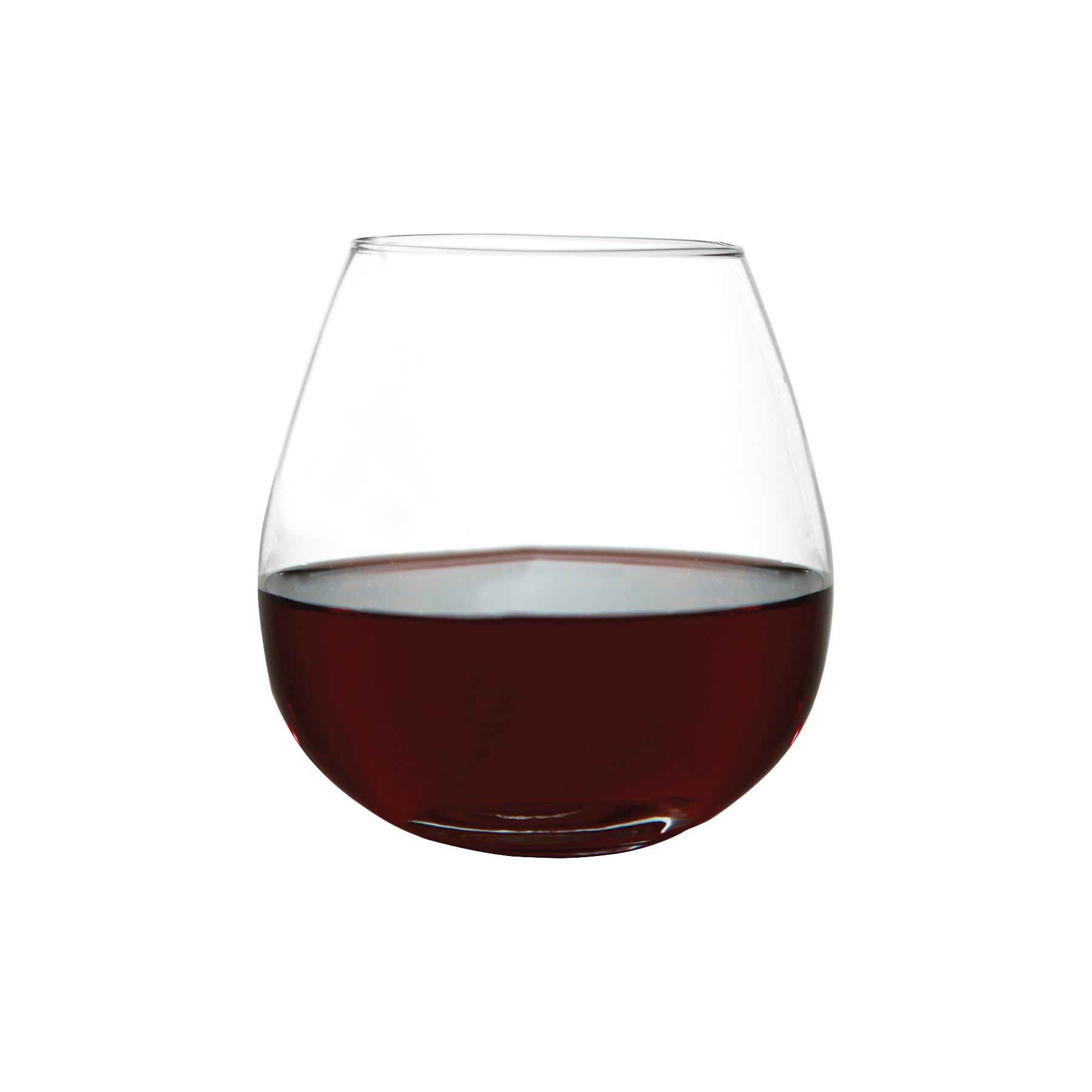perfection stemless red wine glass wayfair. Black Bedroom Furniture Sets. Home Design Ideas