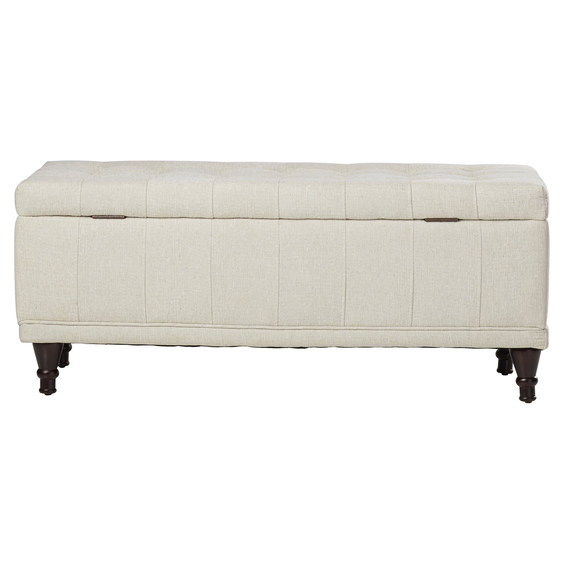 attles fabric bedroom storage ottoman by darby home co