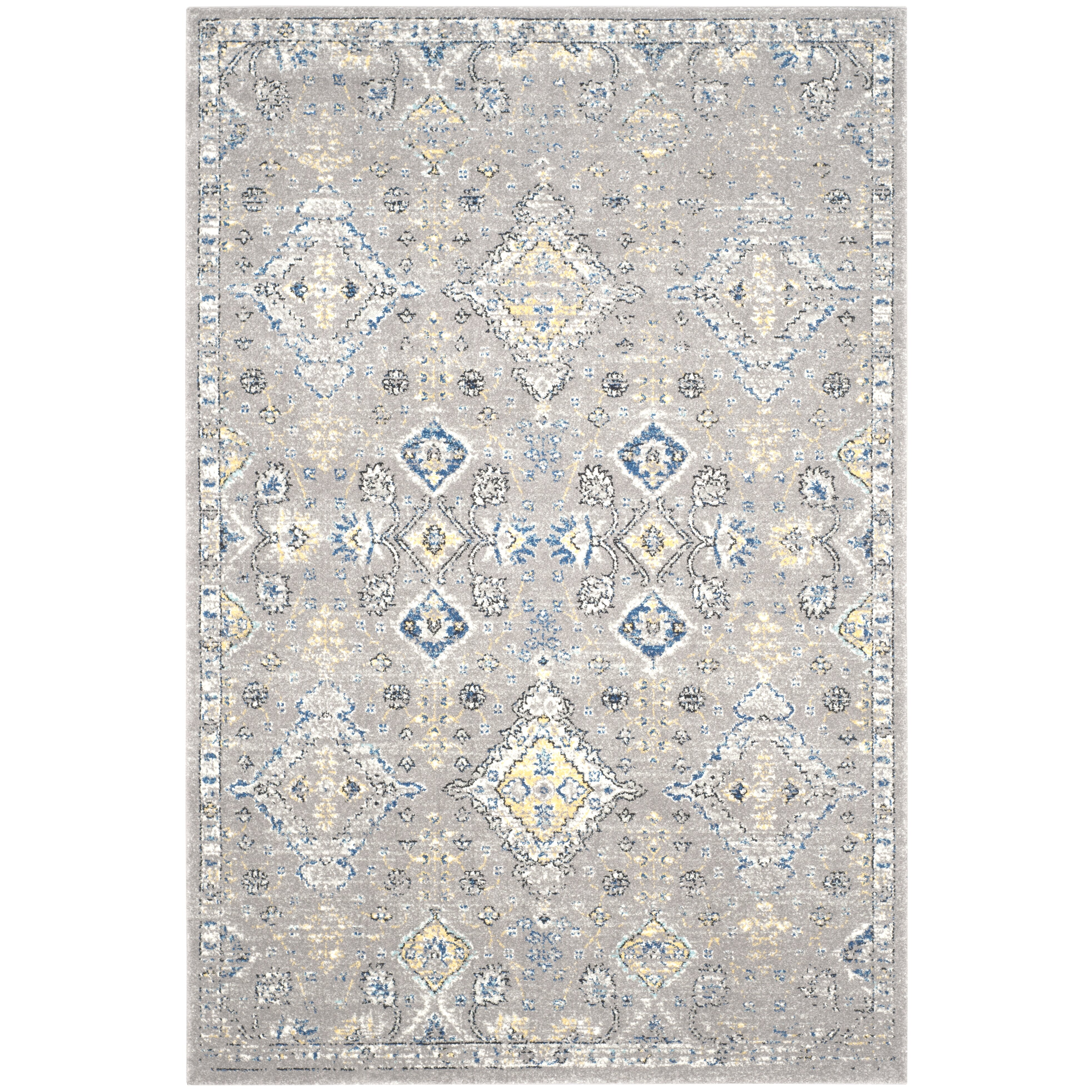 darby home co minonk dark gray yellow area rug reviews wayfair. Black Bedroom Furniture Sets. Home Design Ideas