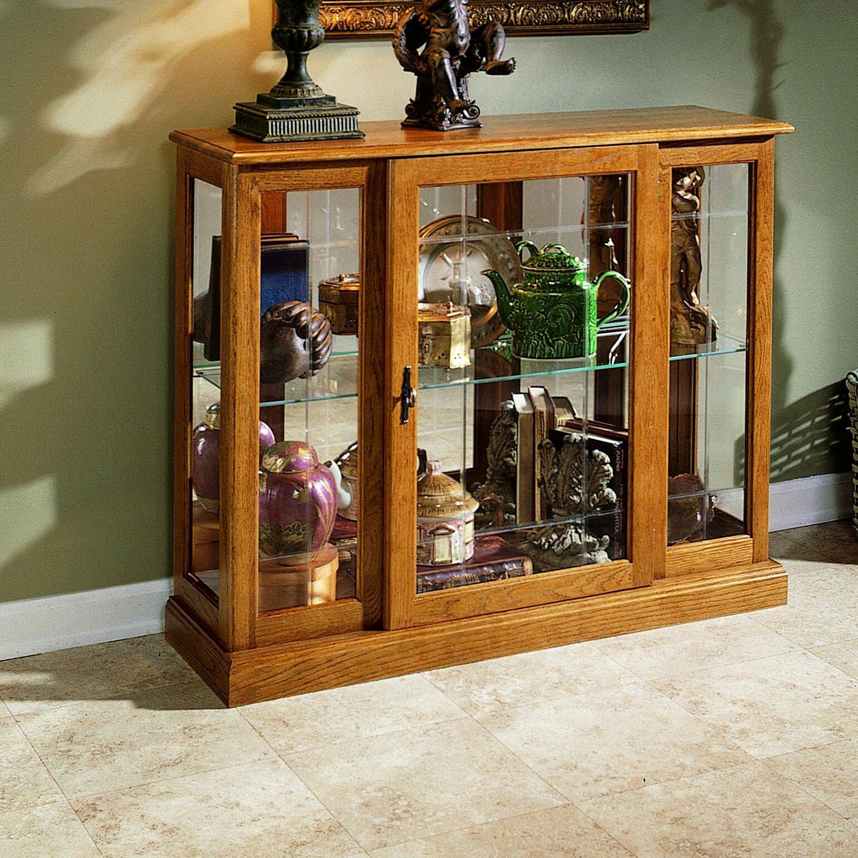 Console Cabinet Furniture: Darby Home Co Purvoche Console Curio Cabinet & Reviews