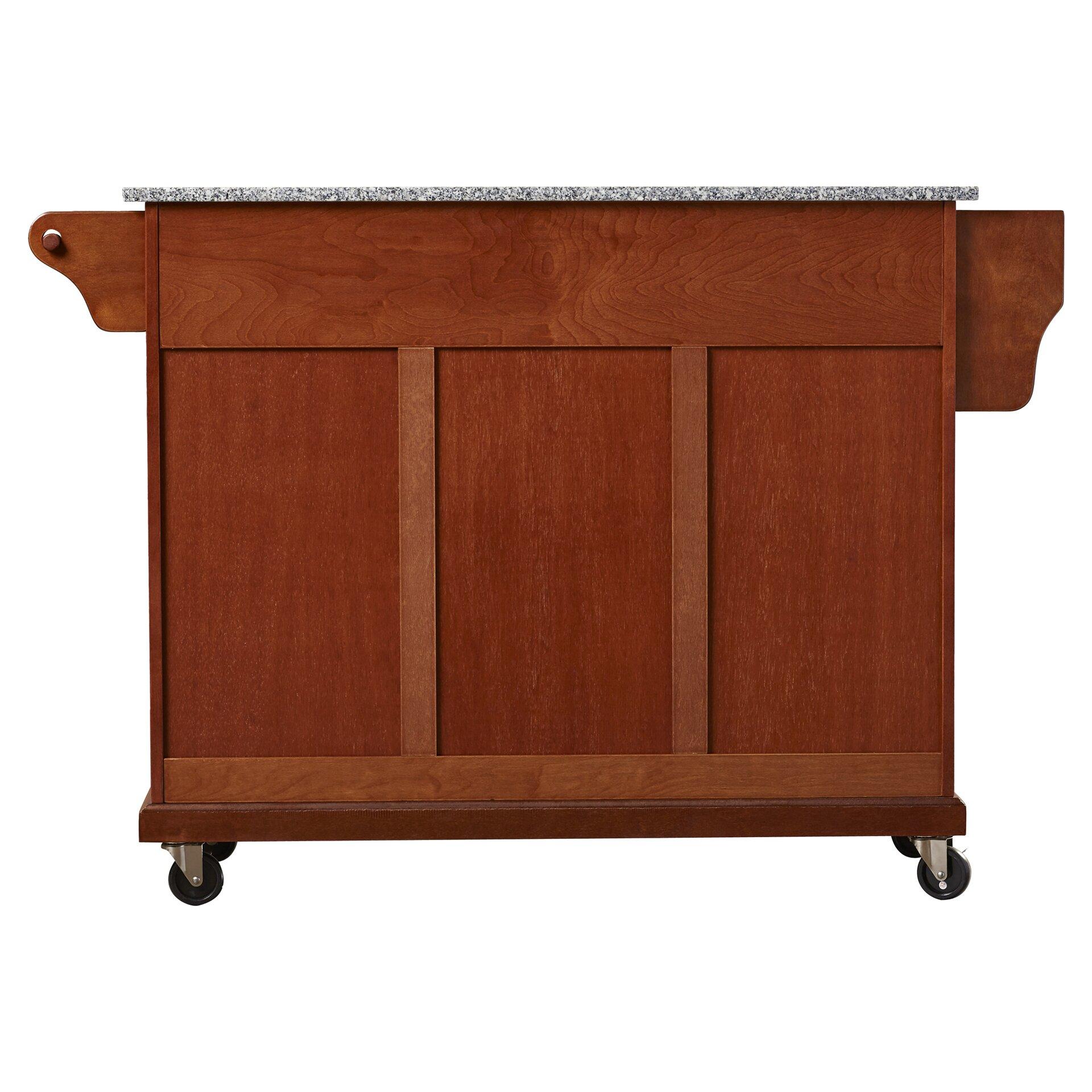pottstown kitchen cart island with granite top wayfair ca crosley furniture solid black granite top kitchen cart