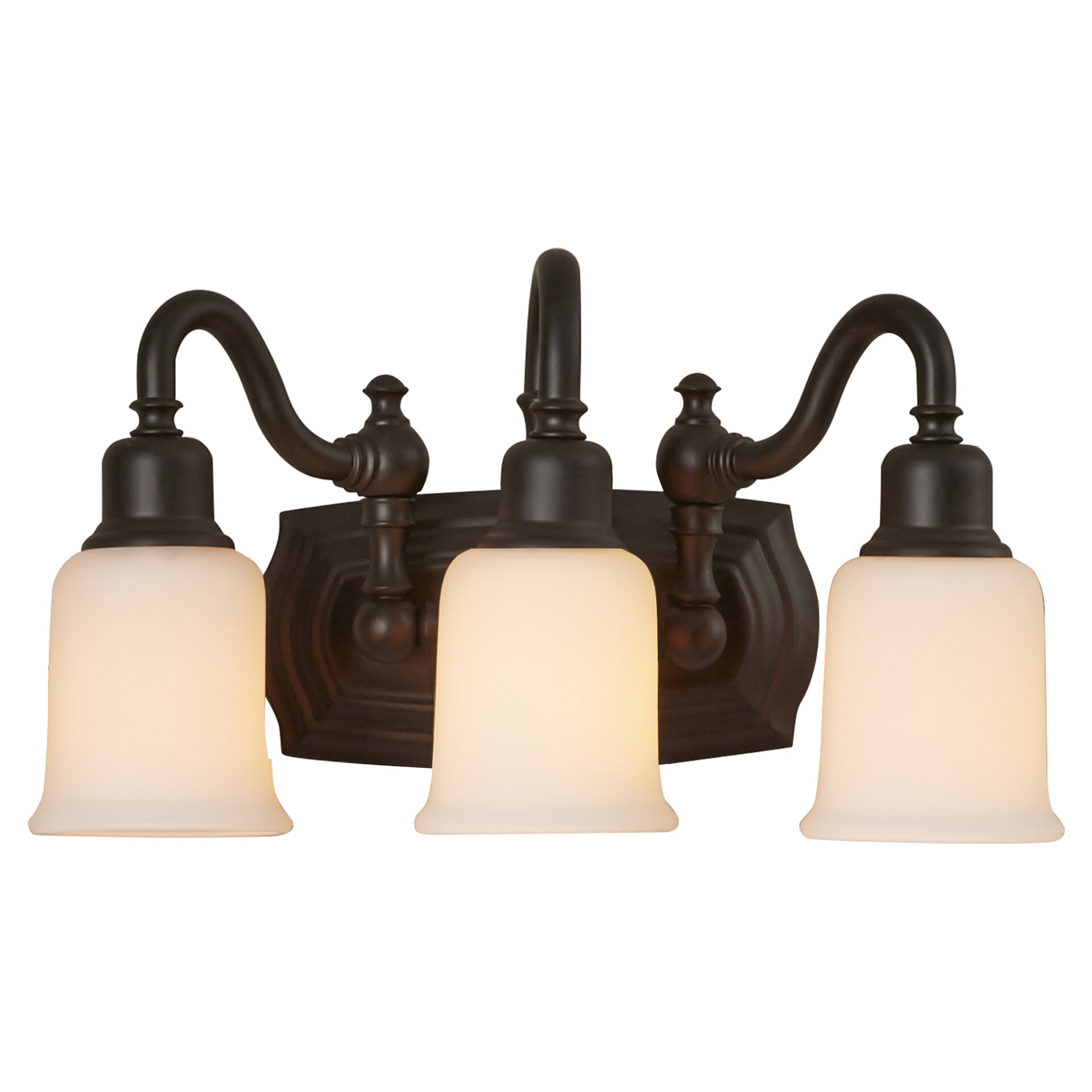 Three Light Bathroom Vanity Light: Darby Home Co Morrison 3 Light Bath Vanity Light & Reviews