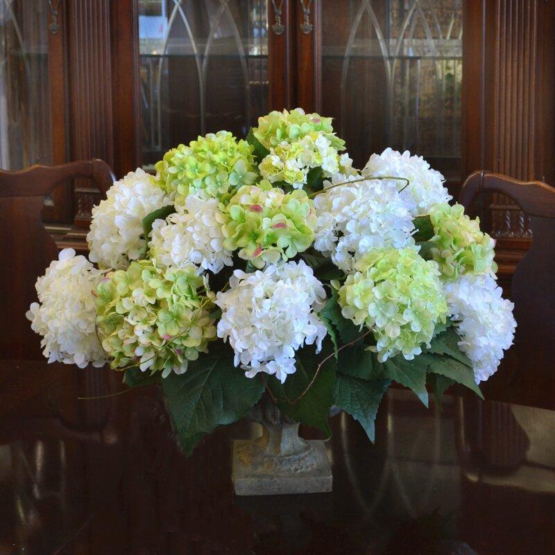 Hydrangea silk flower arrangement wayfair