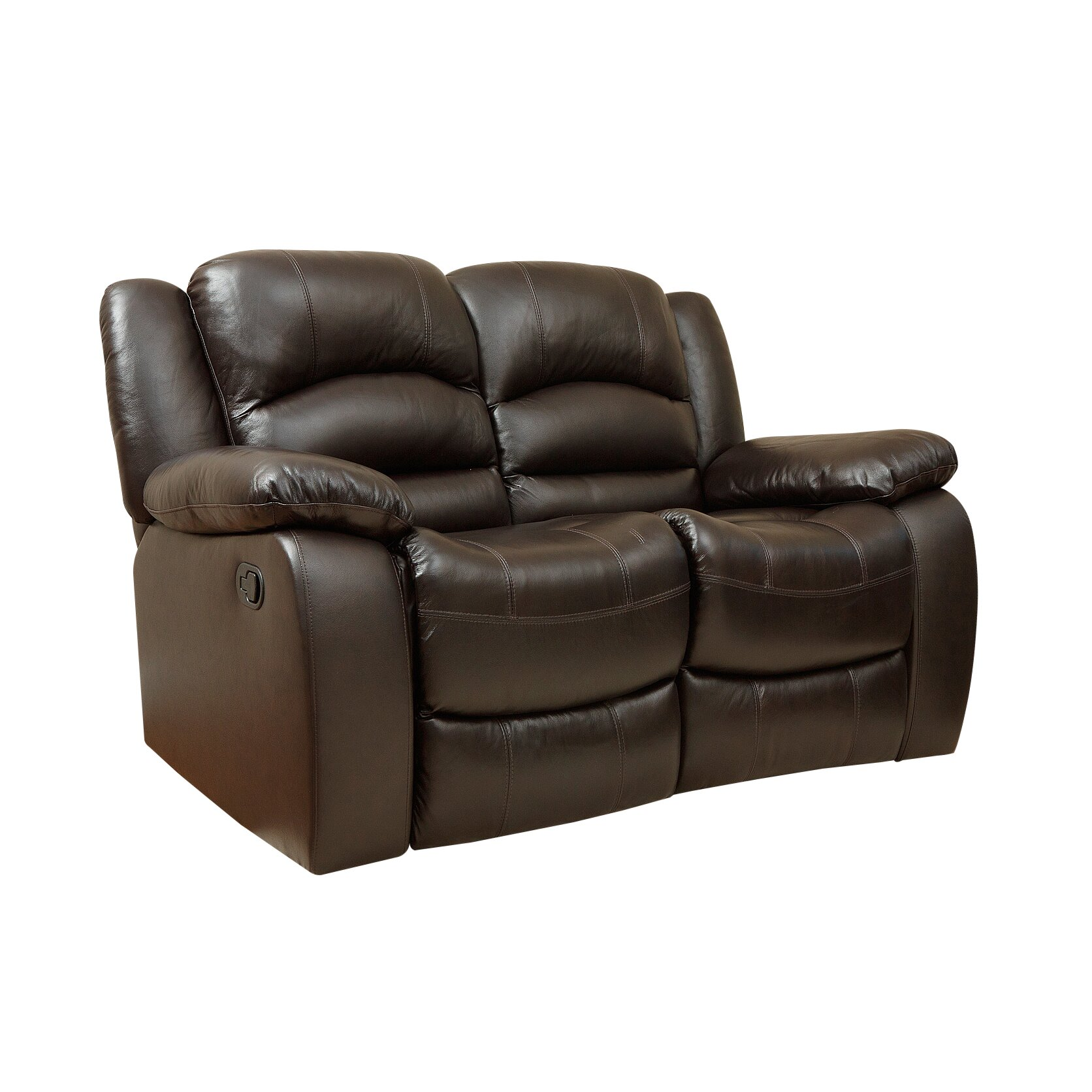 Darby Home Co Jorgensen Italian Leather Reclining Loveseat Reviews Wayfair