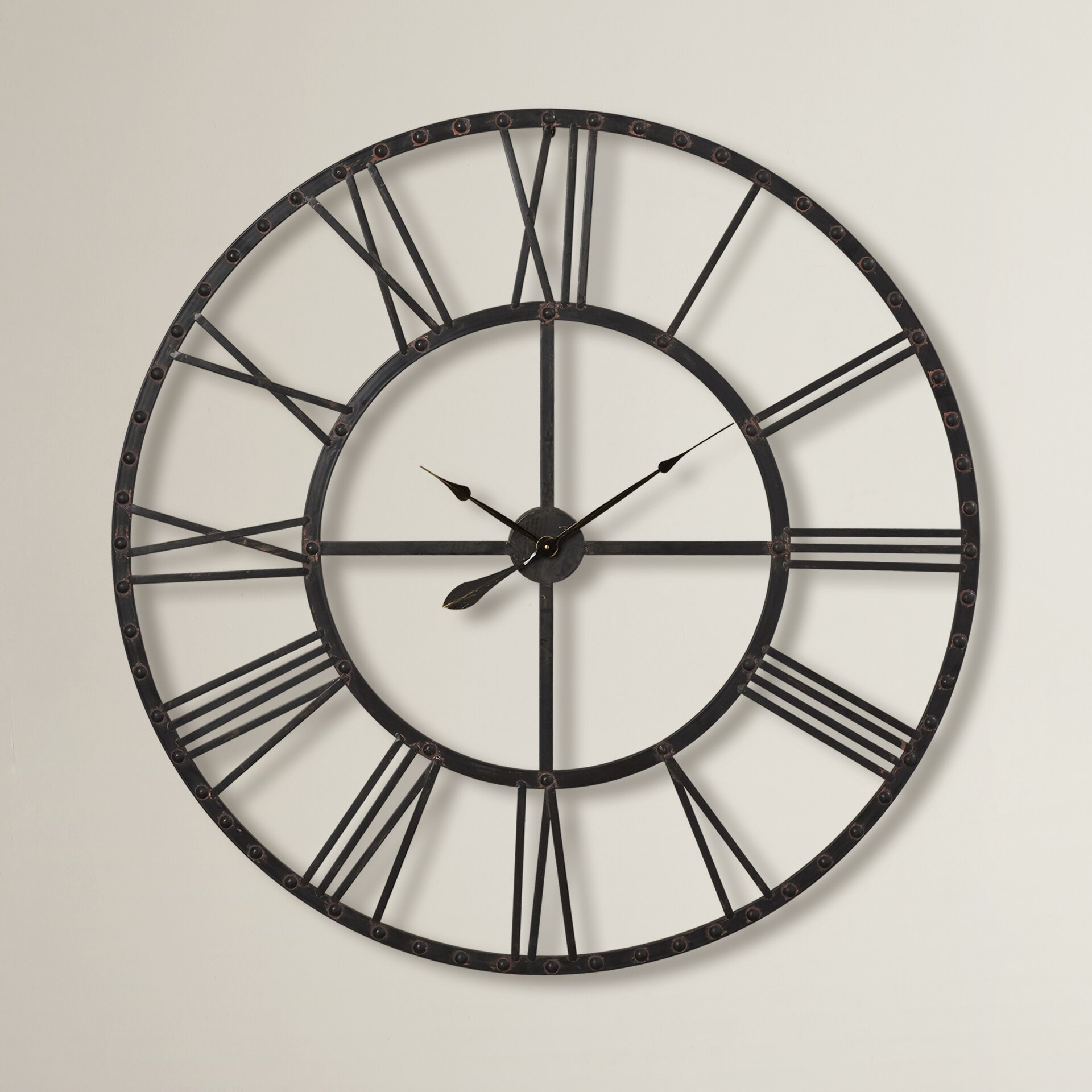 Oversized 44 5 Upton Wall Clock Wayfair