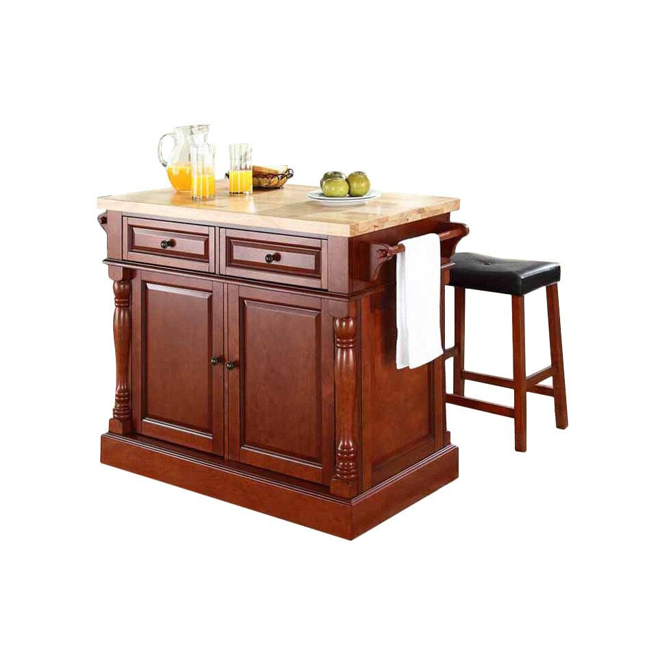 darby home co pavlof 3 piece kitchen island set with