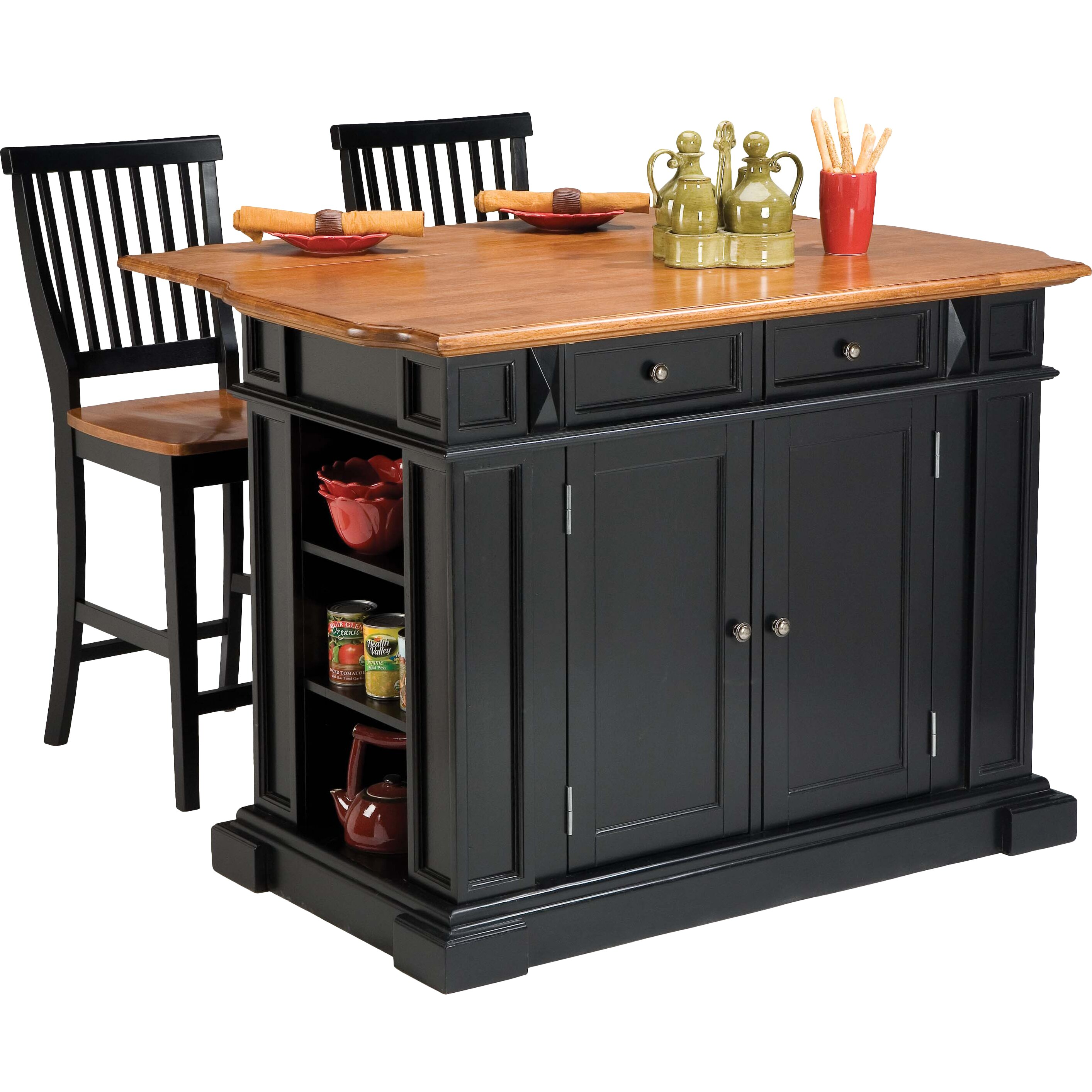 darby home co mattice 3 kitchen island set reviews