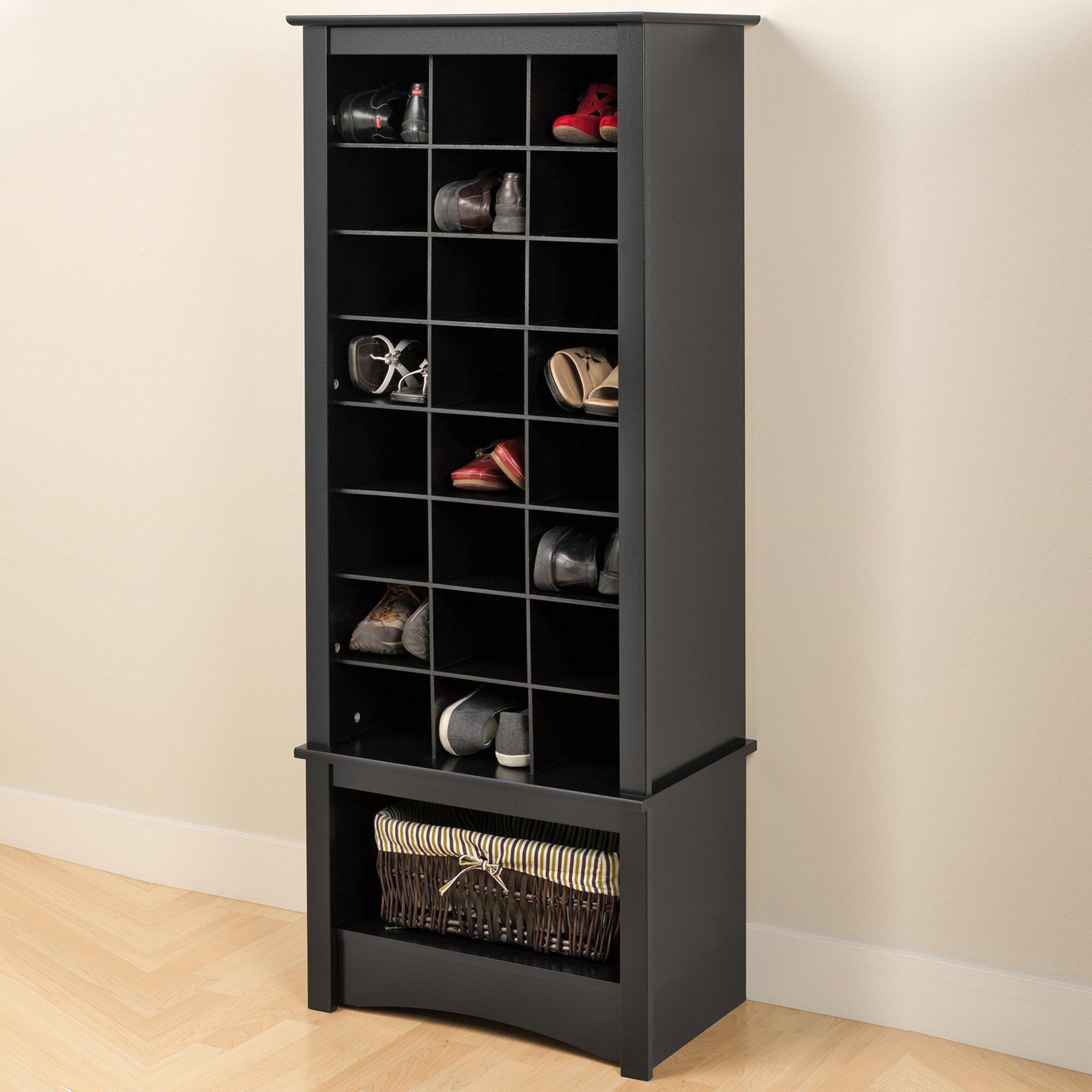 felton tall 24 pair shoe storage cabinet wayfair. Black Bedroom Furniture Sets. Home Design Ideas