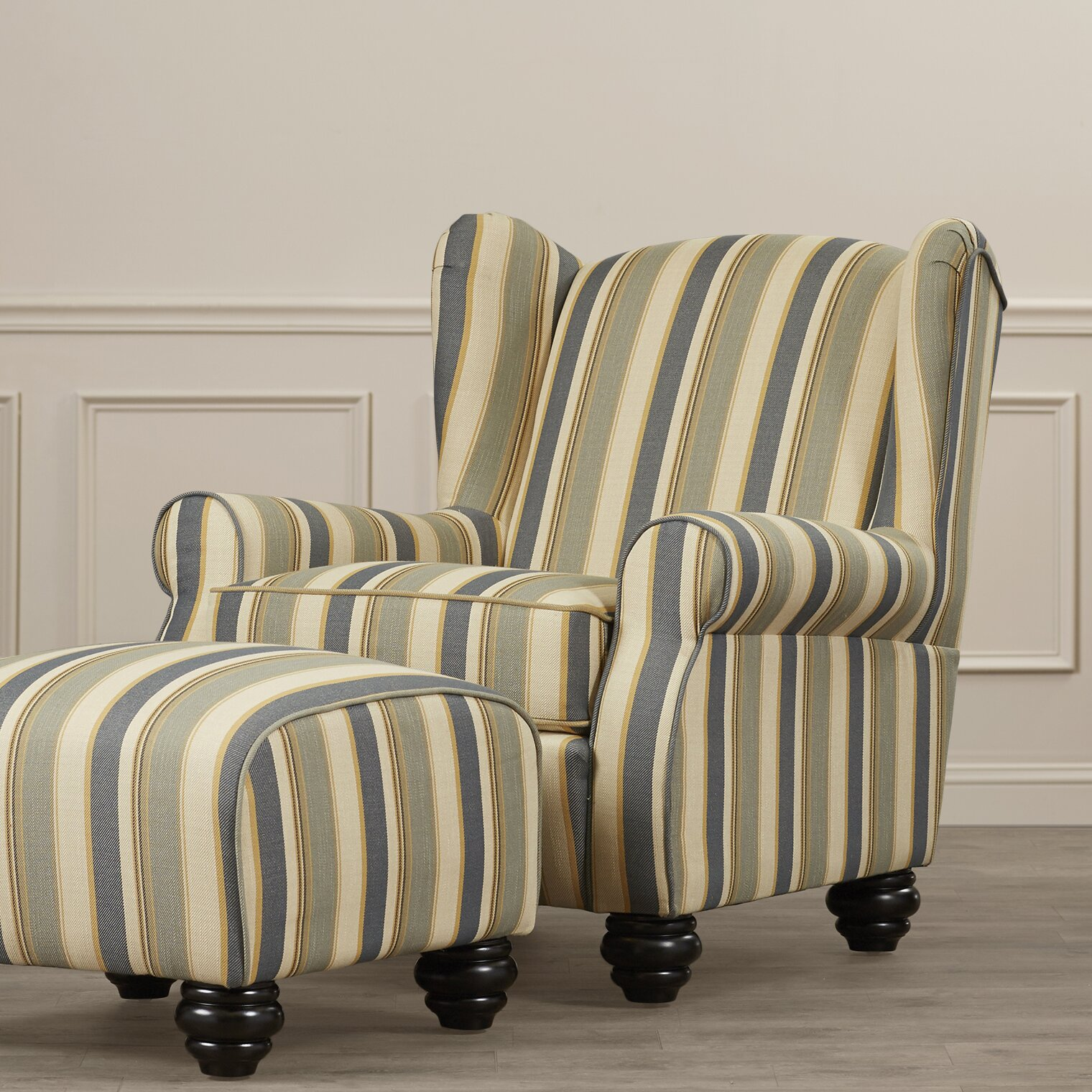 Darby Home Co Brougham Arm Chair And Ottoman Amp Reviews