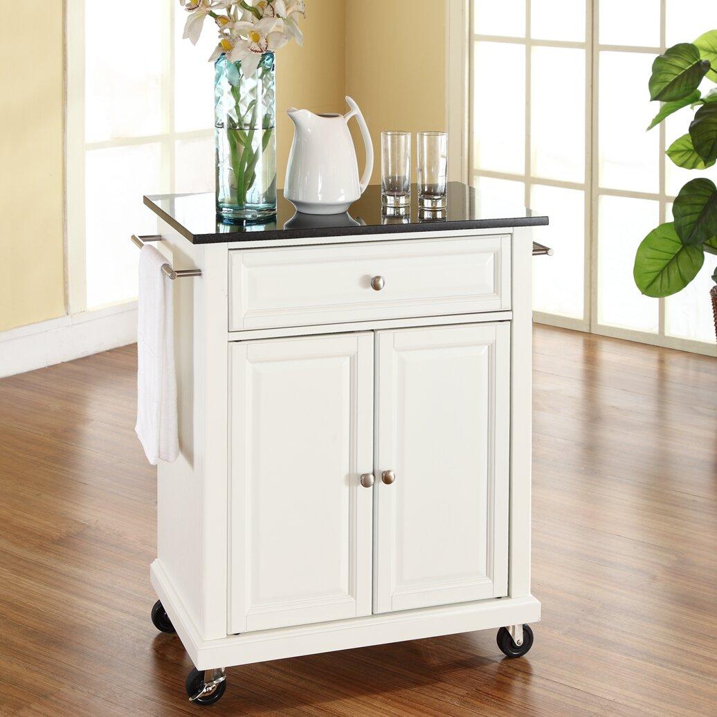 celeste kitchen cart with granite top wayfair. Black Bedroom Furniture Sets. Home Design Ideas