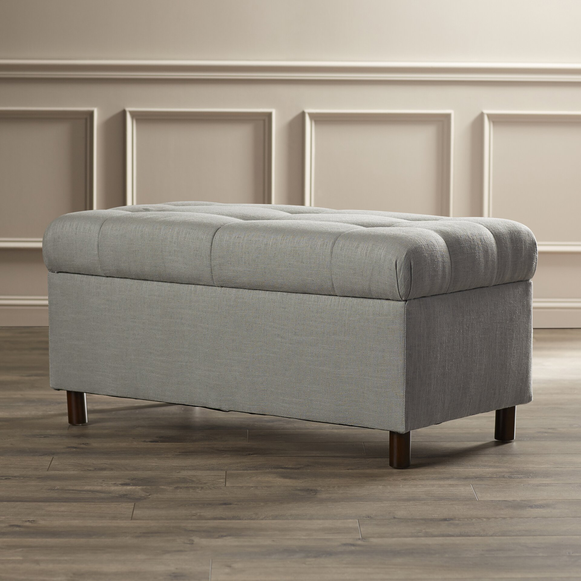 henrietta tufted linen storage bedroom bench wayfair