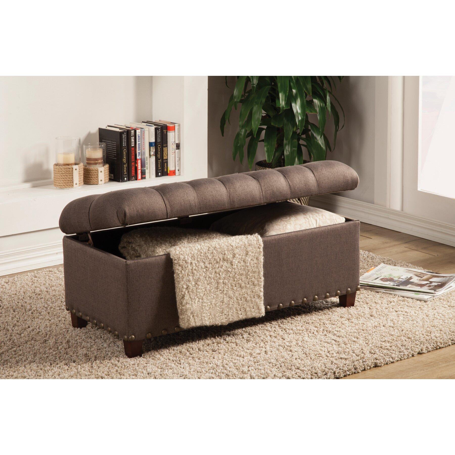 Henderson Upholstered Storage Bedroom Bench | Wayfair