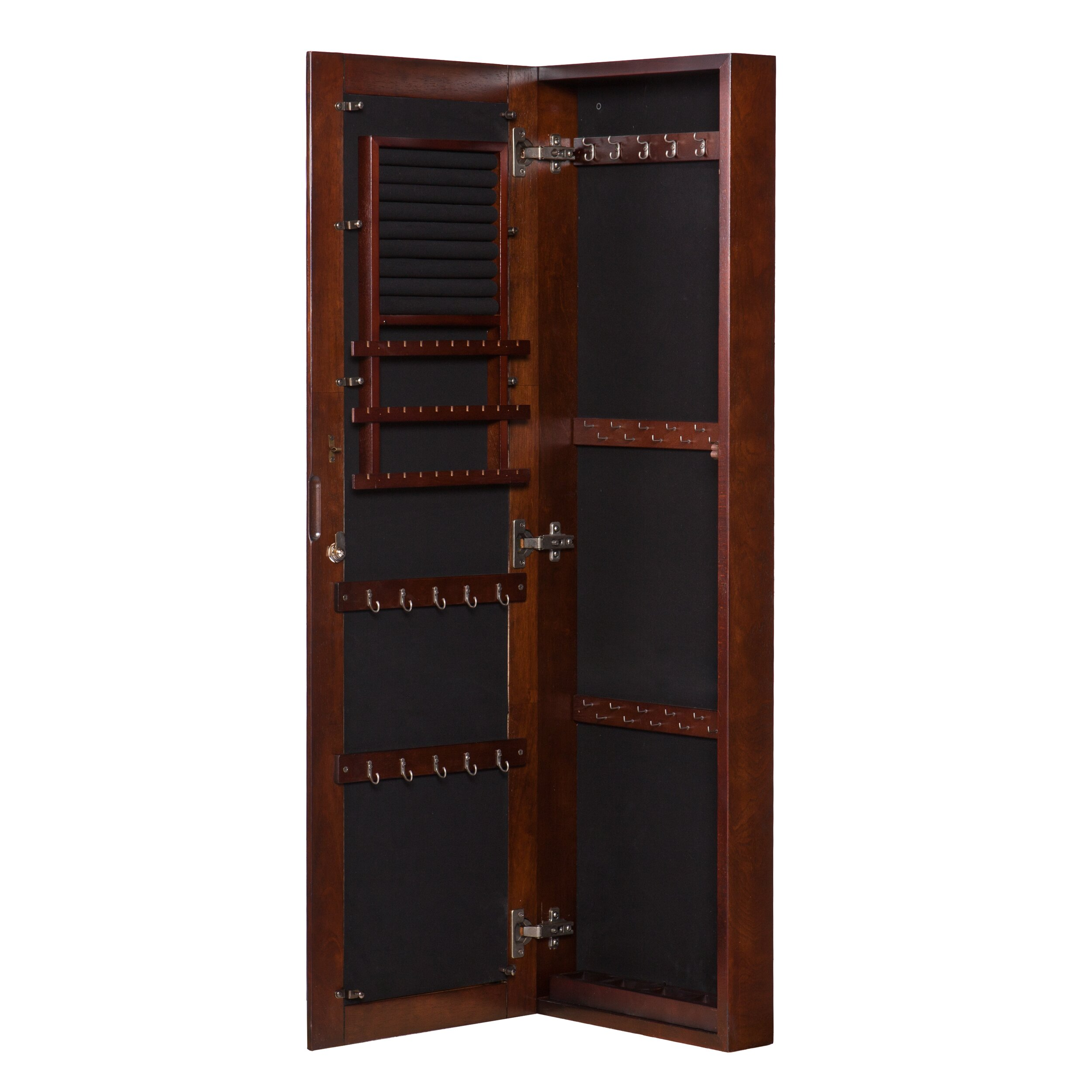 Alcott Hill Chauncey Wall-Mounted Jewelry Armoire with ...