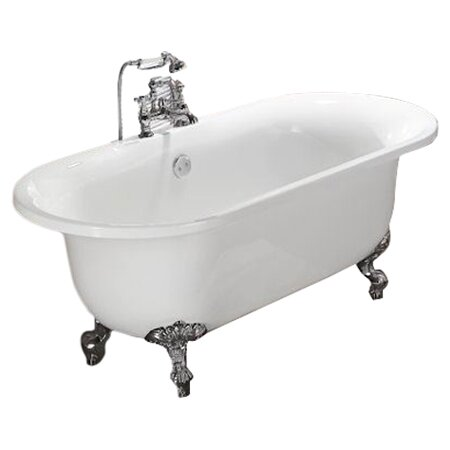 Alcott hill vernon clawfoot 70 x 31 soaking bathtub for Claw foot bath tub for sale