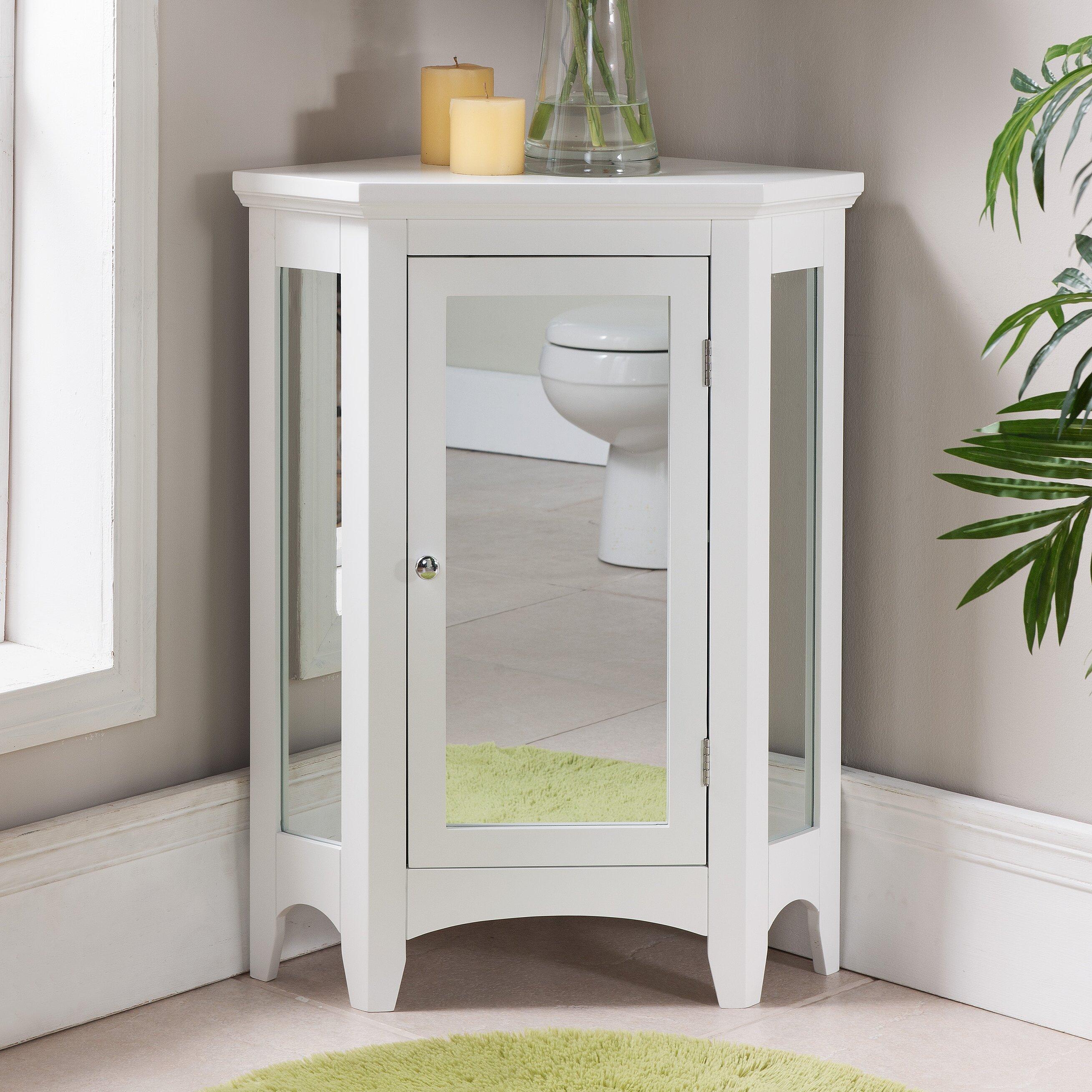 Langport X 32 Mirrored Corner Free Standing Cabinet Wayfair
