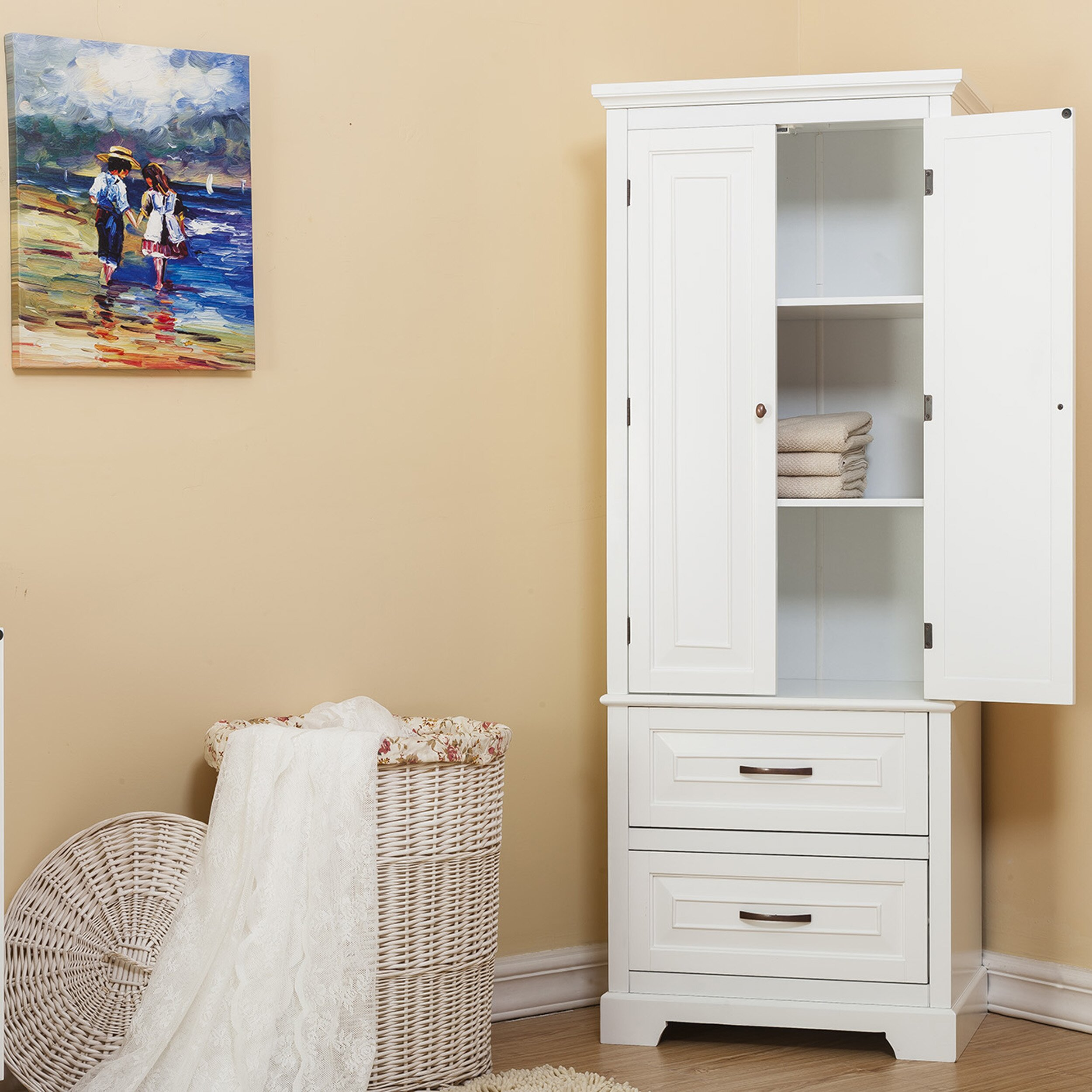 alcott hill prater 24 x 62 free standing cabinet. Black Bedroom Furniture Sets. Home Design Ideas