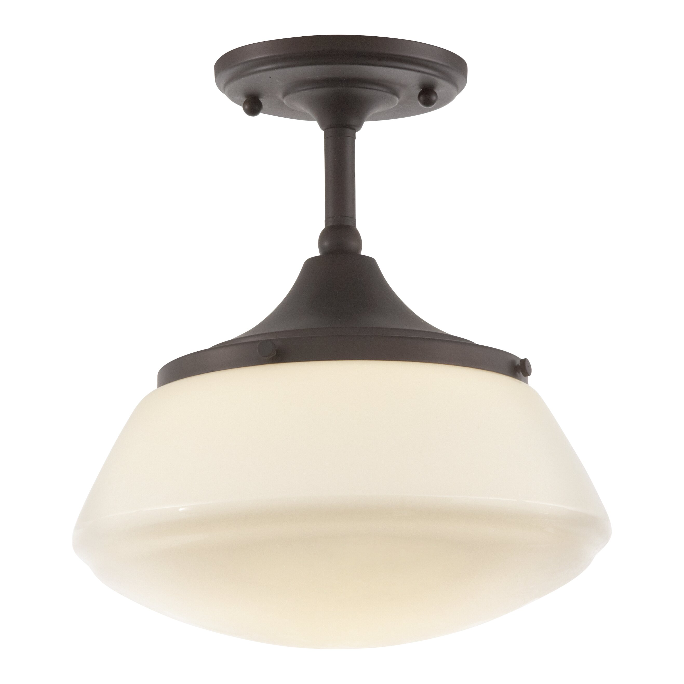 Beverly 1 Light Outdoor Semi Flush Mount