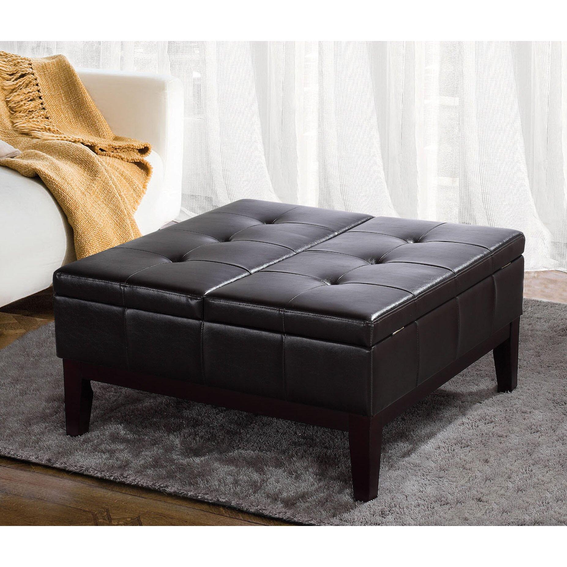 square coffee table ottoman joss main. Black Bedroom Furniture Sets. Home Design Ideas