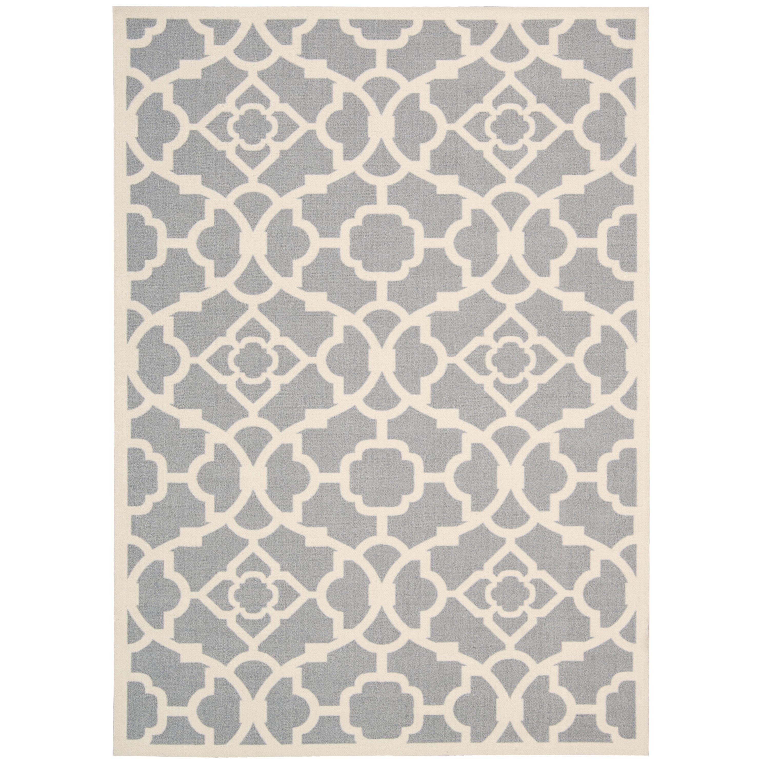 kenton gray white indoor outdoor area rug wayfair. Black Bedroom Furniture Sets. Home Design Ideas