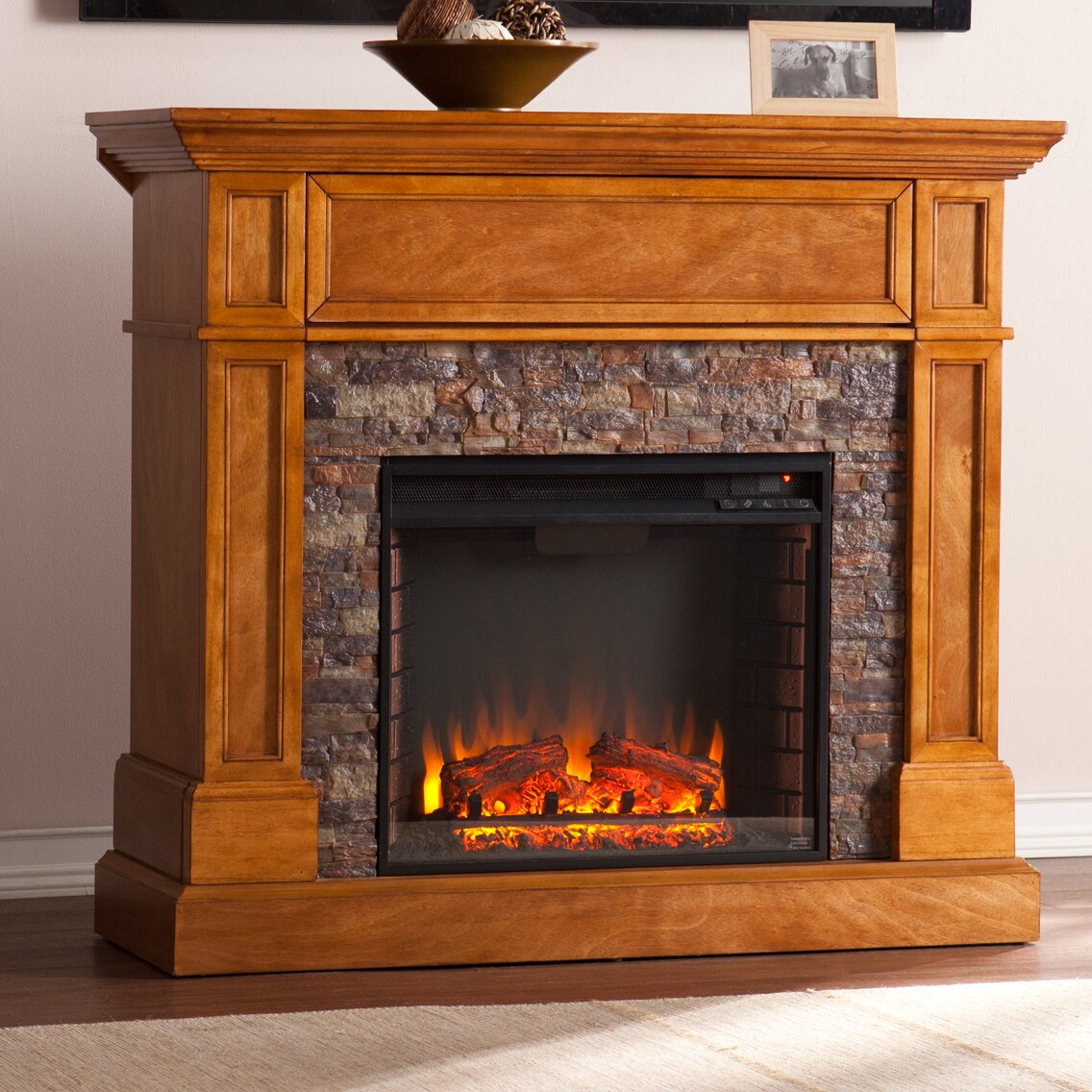 Bluff Canyon Thornton Faux Stone Convertible Electric