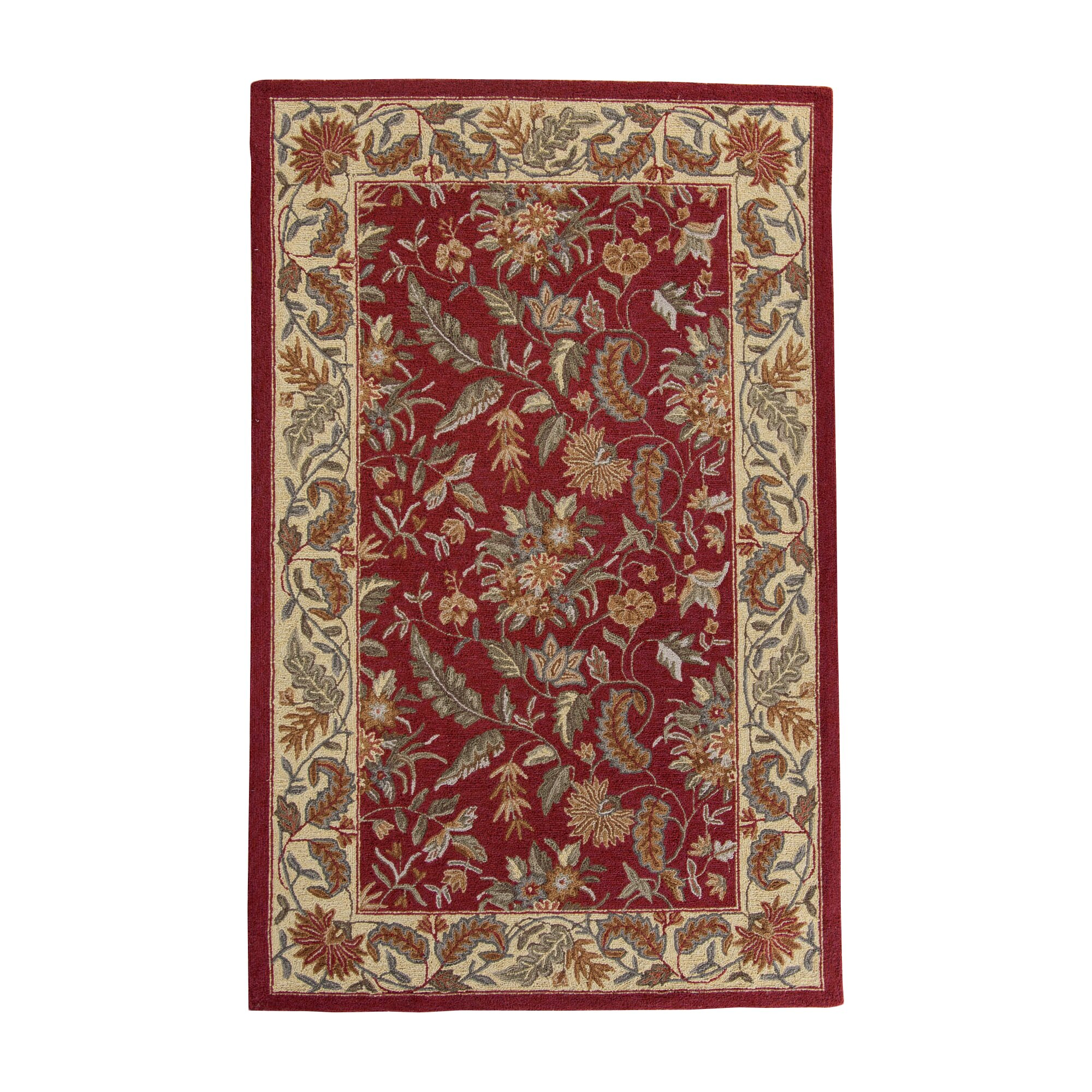 Area Rugs Wayfair: Charlton Home Country Floral Area Rug & Reviews