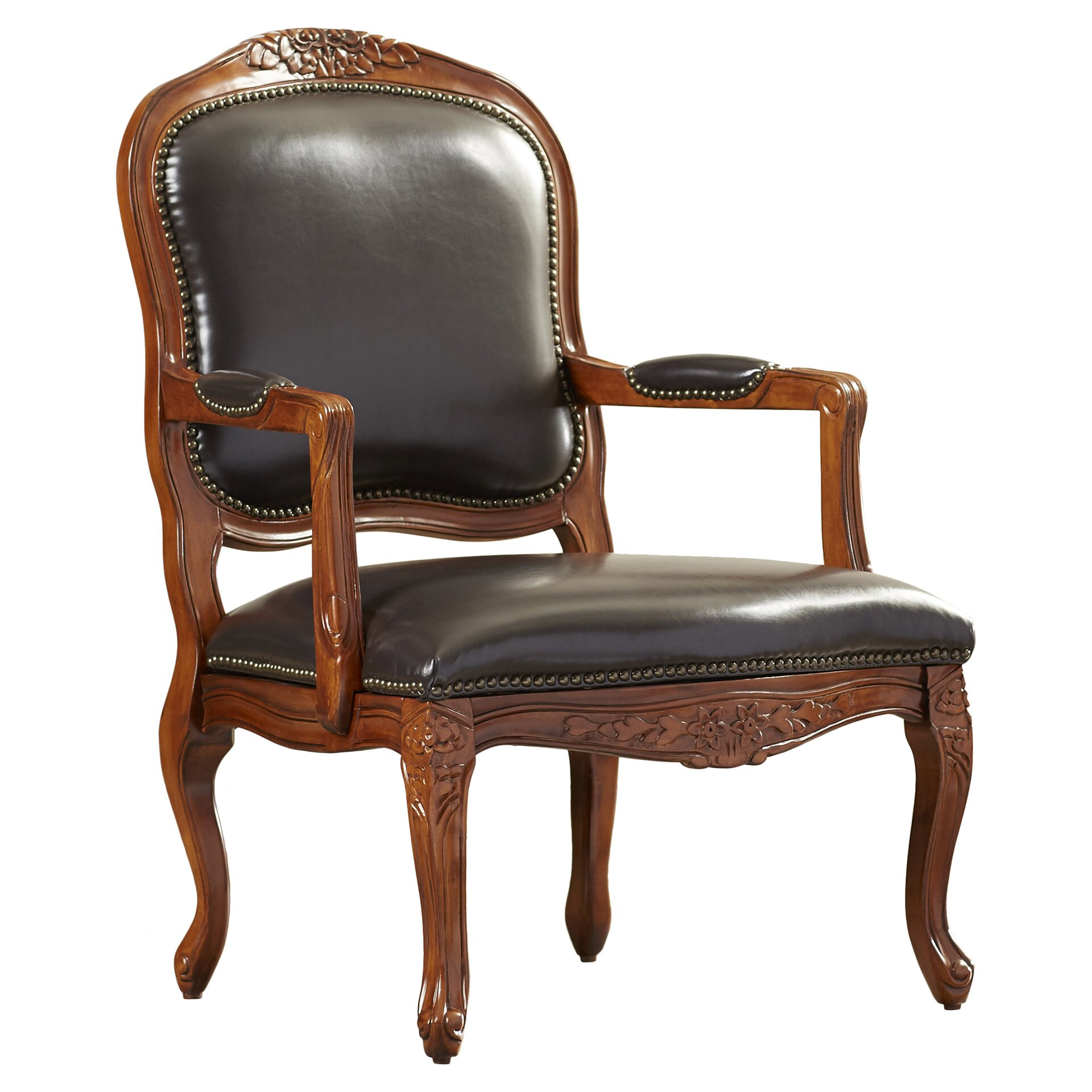 Margarite Faux Leather Arm Chair