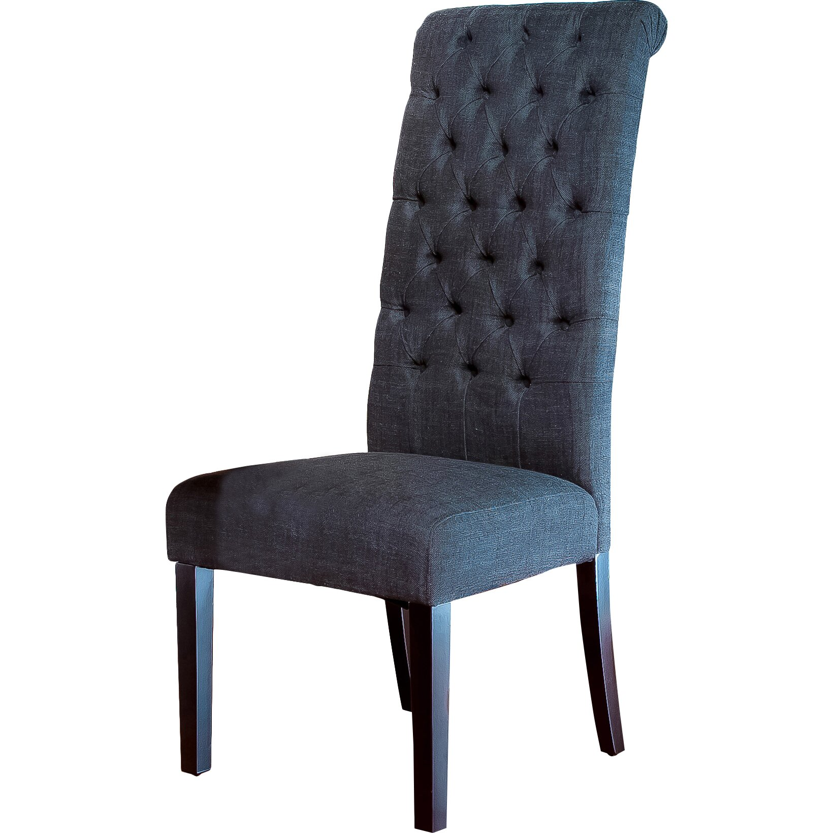 Charlton Home Estbury Tall Tufted Upholstered Dining Chair Reviews Wa