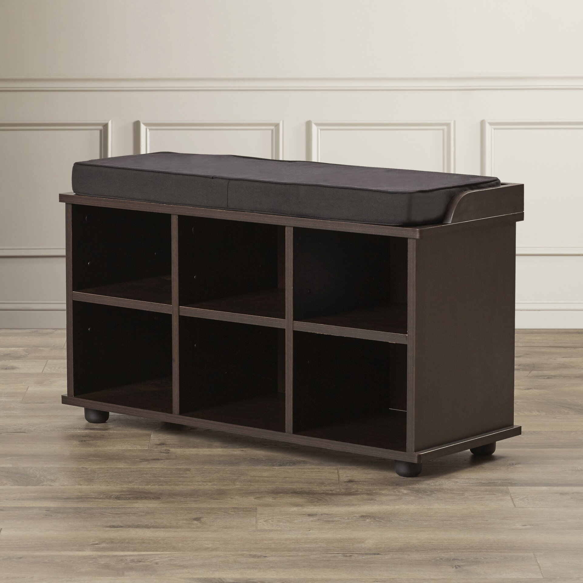 Charlton home 6 cubby storage entryway bench reviews for Storage charlton