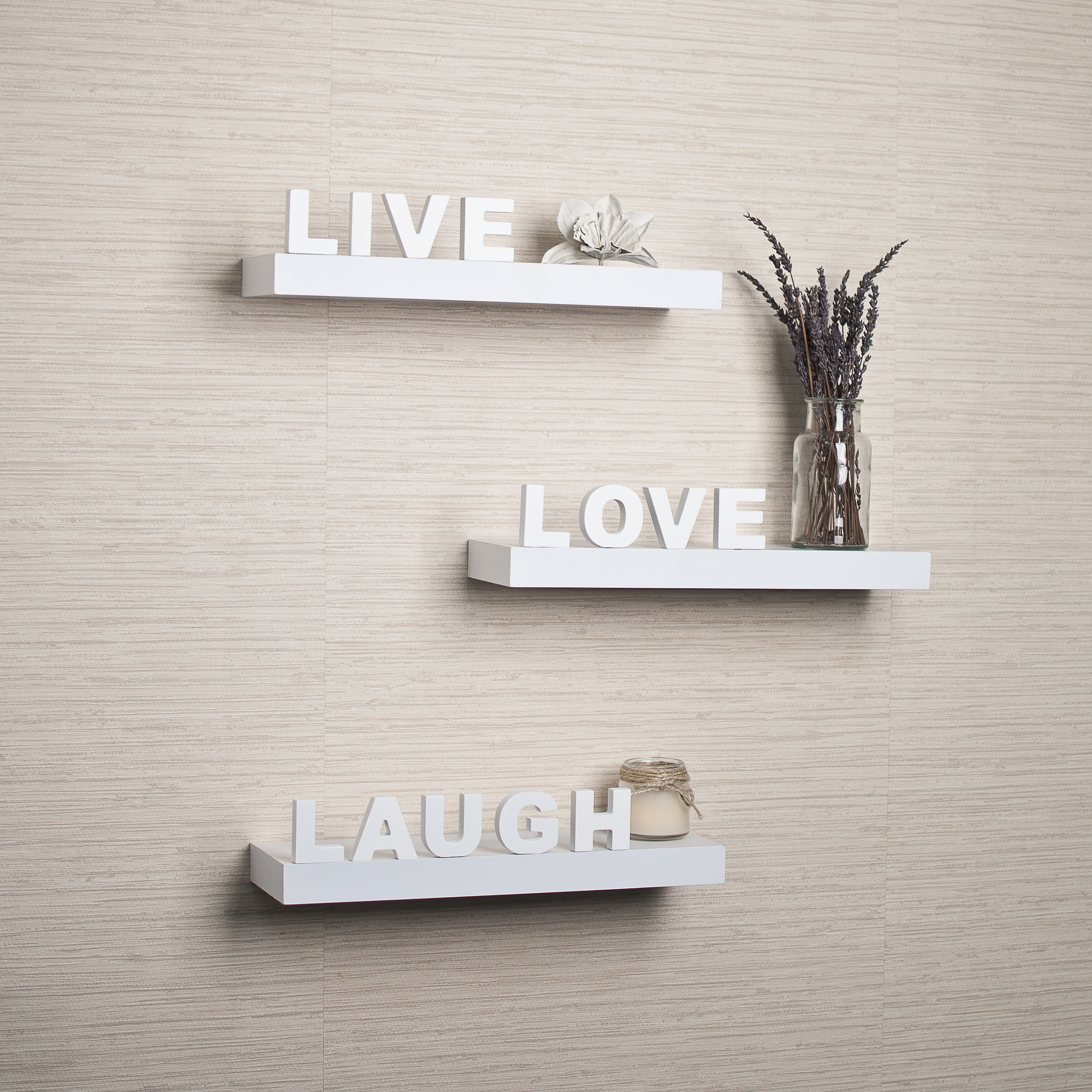 Varick Gallery Kelly 3 Piece Quot Live Love Laugh Quot Floating