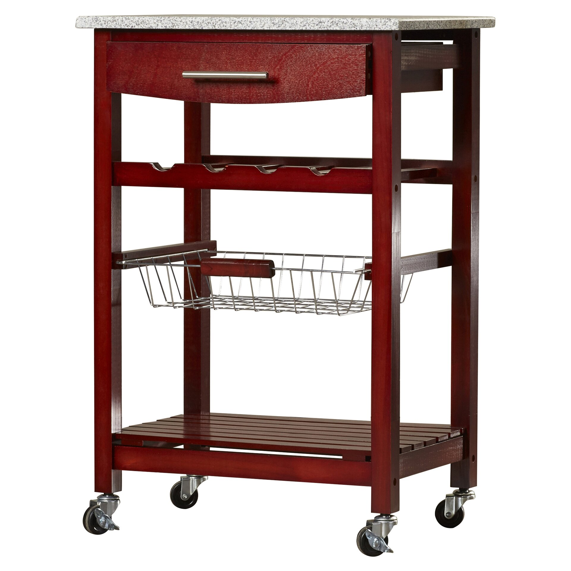 Varick Gallery Flint Kitchen Cart with Granite Top & Reviews