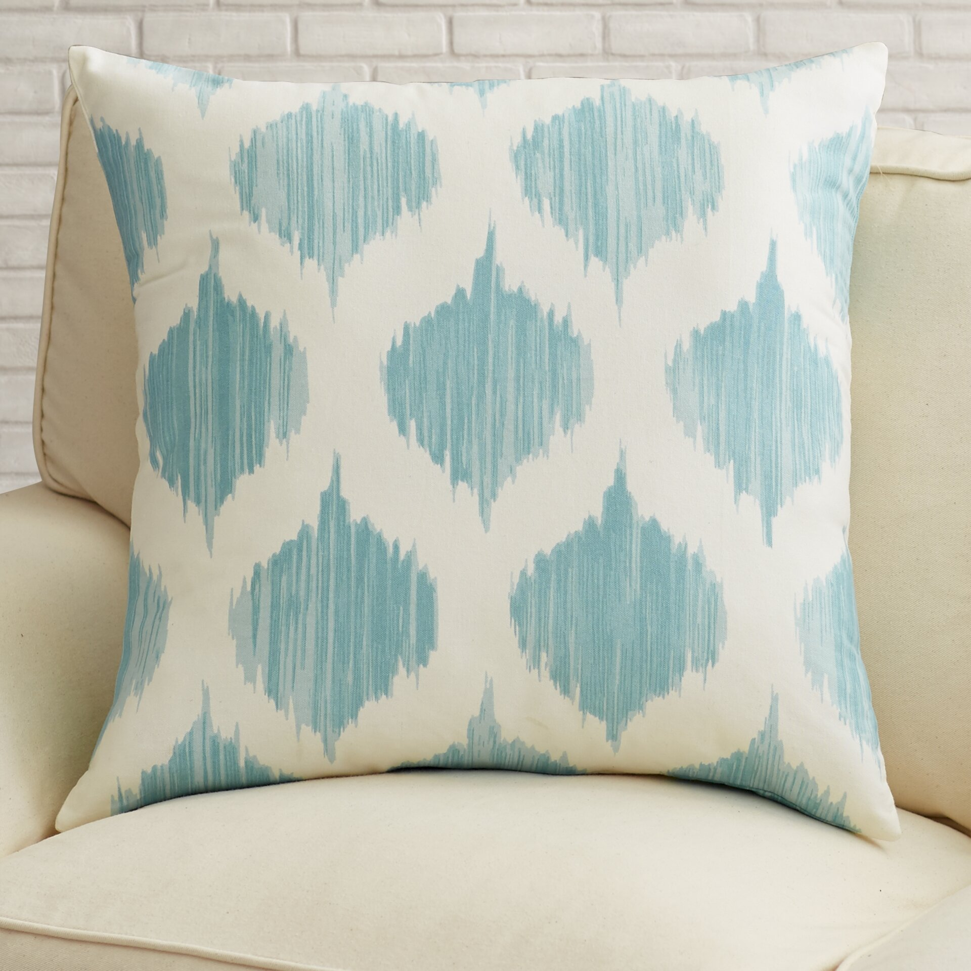 Wayfair Blue Decorative Pillows : Varick Gallery Aguilar Cotton Throw Pillow & Reviews Wayfair.ca