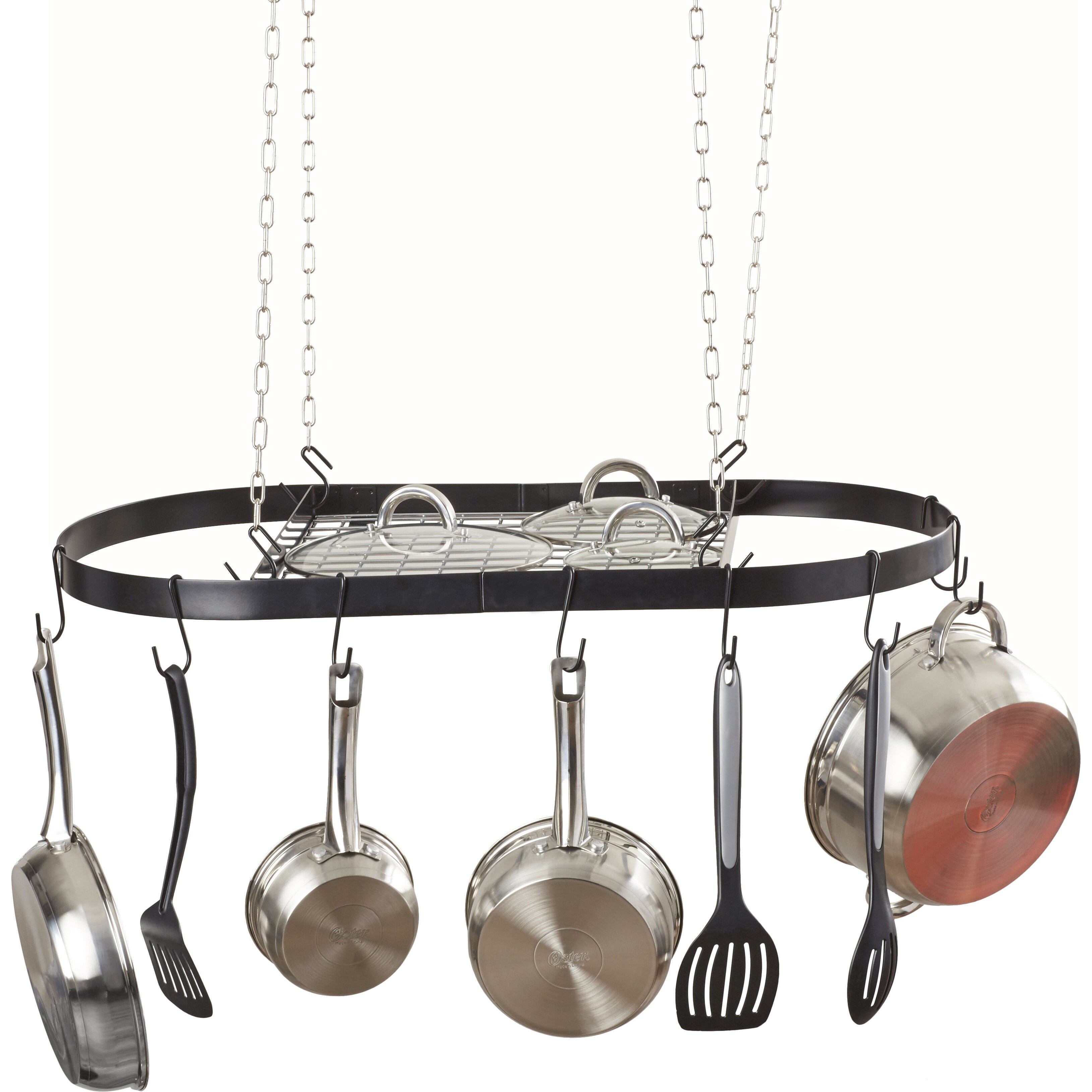 Varick Gallery Oval Hanging Pot Rack & Reviews | Wayfair