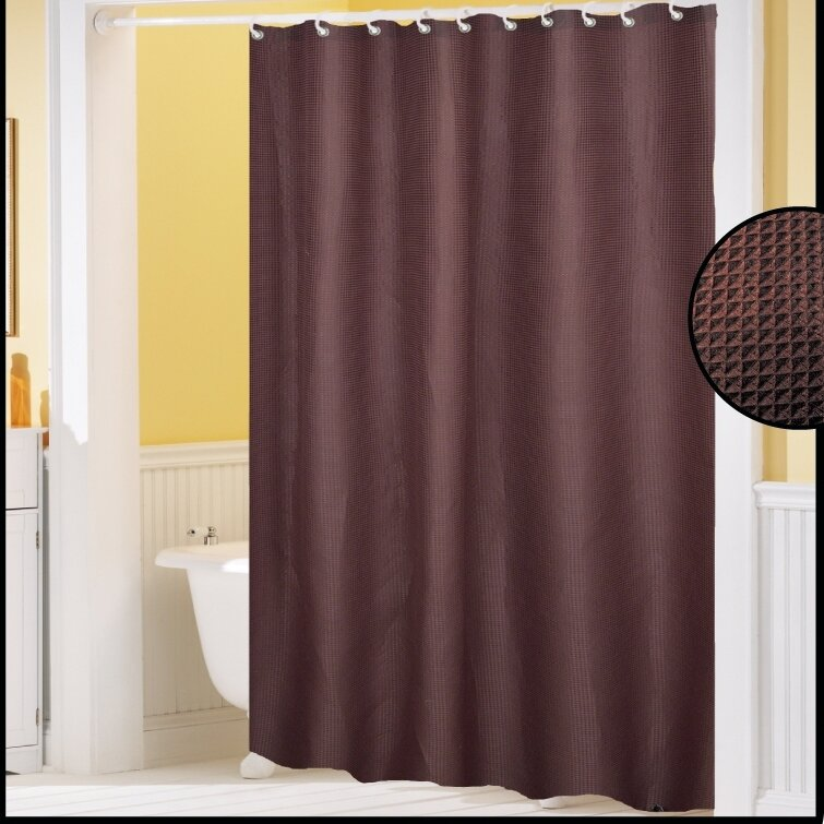 clybourne waffle weave shower curtain wayfair