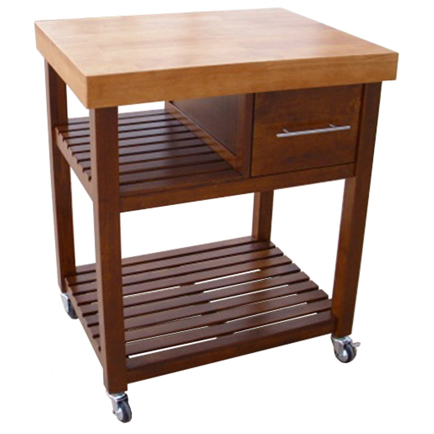 Deason Dining Essentials Kitchen Cart with Butcher Block Top Wayfair