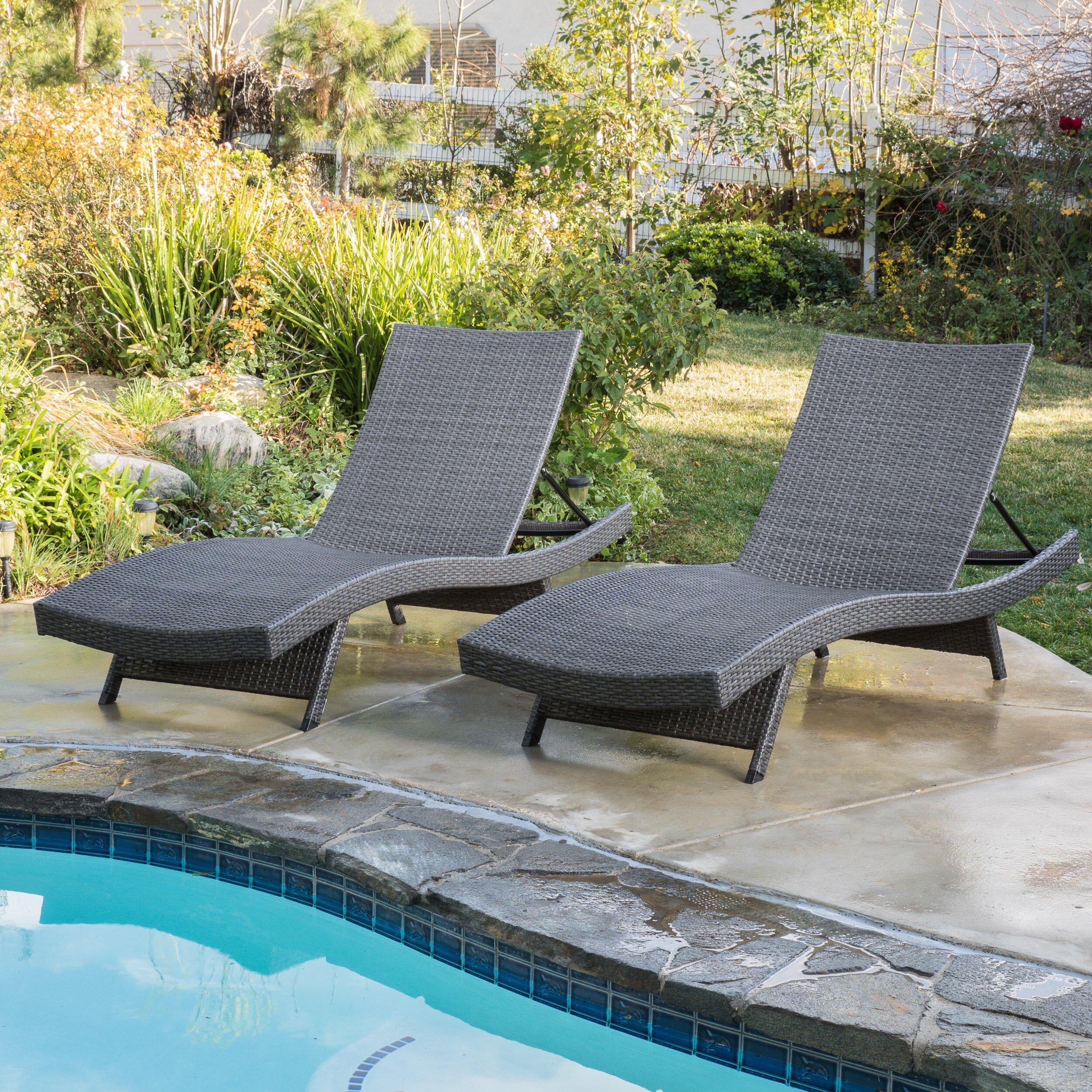 Brayden Studio Gadbois Adjustable Chaise Lounge Reviews Wayfair