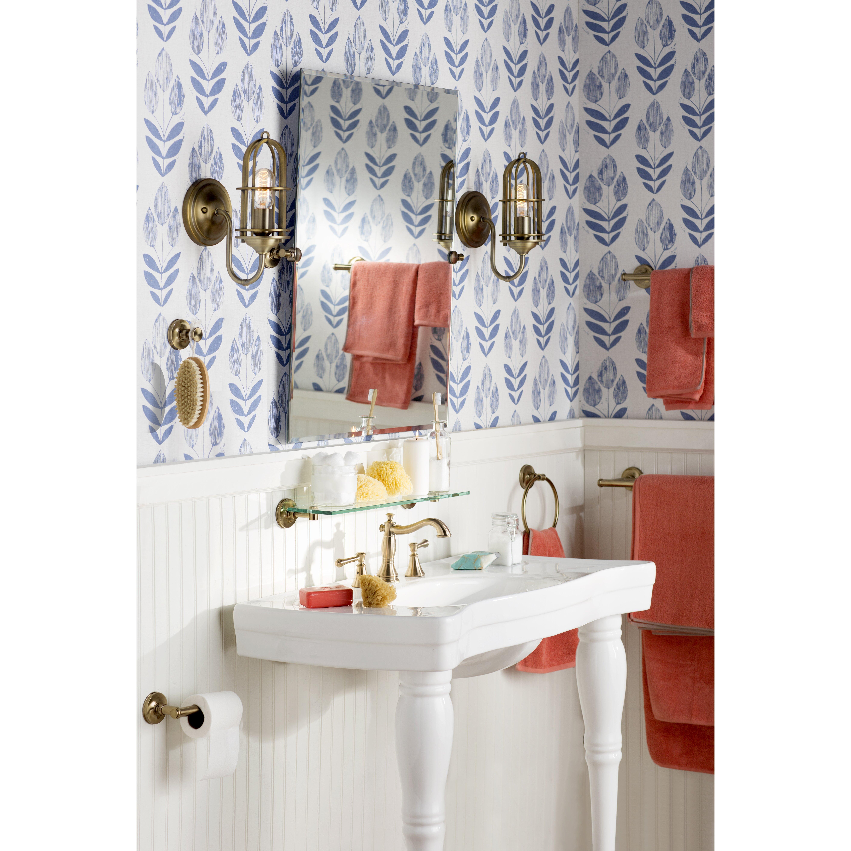 Ladwig scandinavian block tulip 33 39 x 20 5 floral for Wayfair bathroom wallpaper