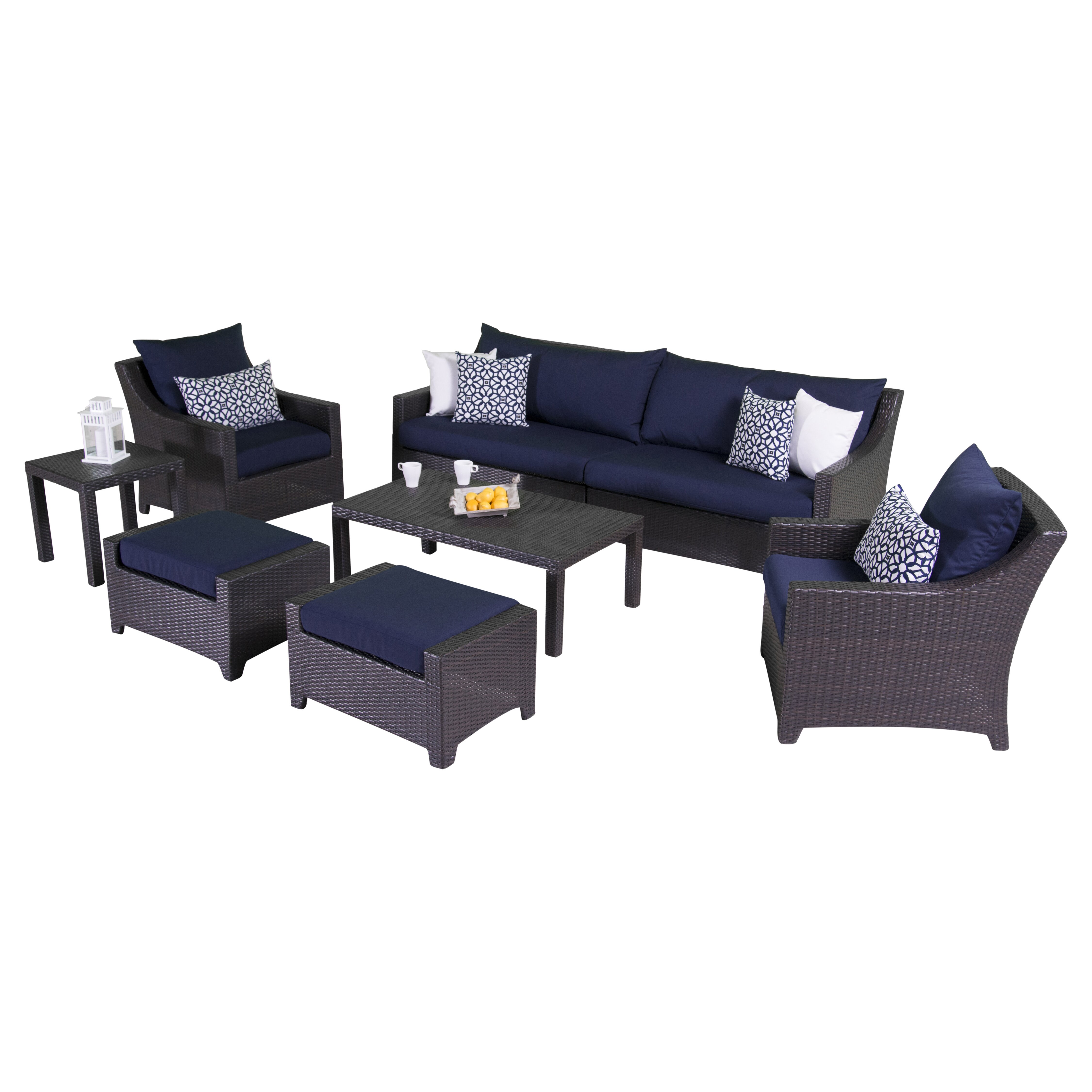 Ahmad 7 Piece Deep Seating Group With Cushions