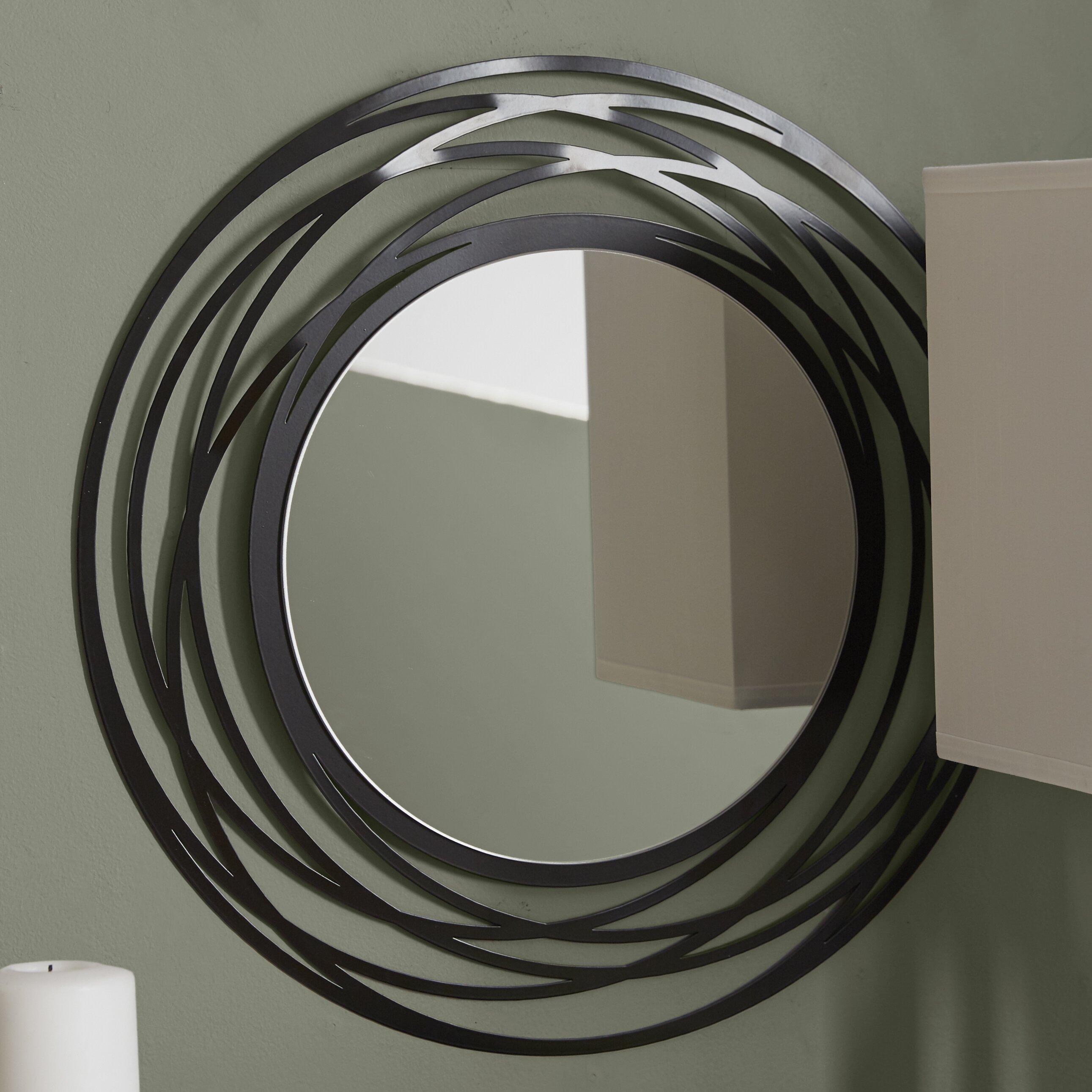 Brayden Studio Fluent Round Wall Mirror & Reviews | Wayfair