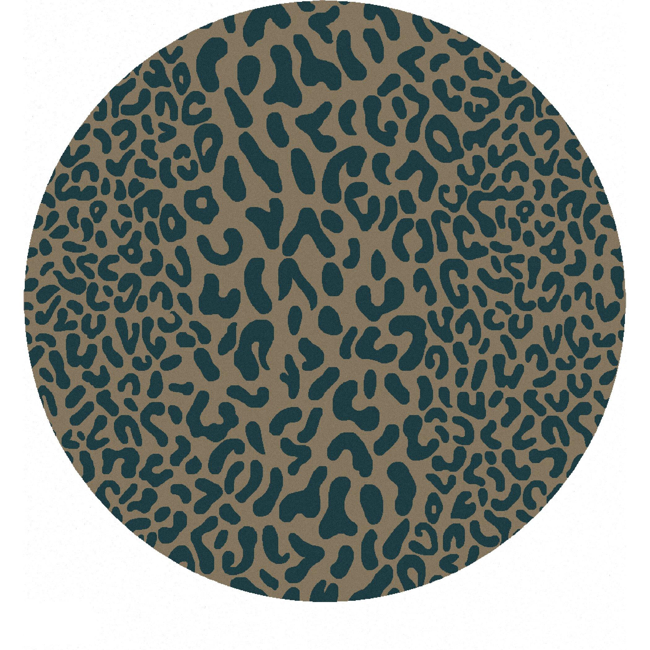 Animal Print Rug Wayfair: Macias Teal Animal Print Area Rug