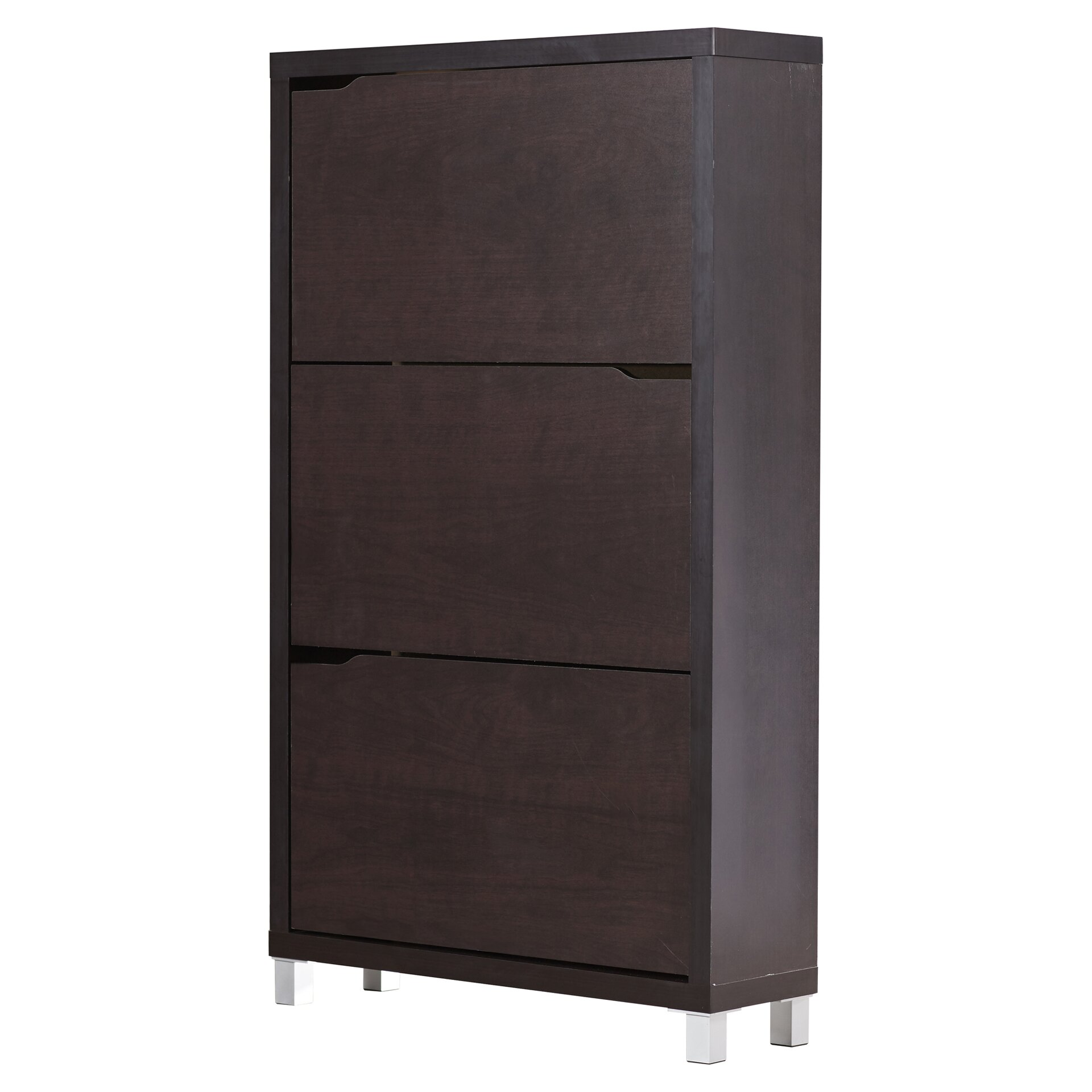 modern shoe cabinet wade logan altha 3 door shoe storage cabinet amp reviews 23569