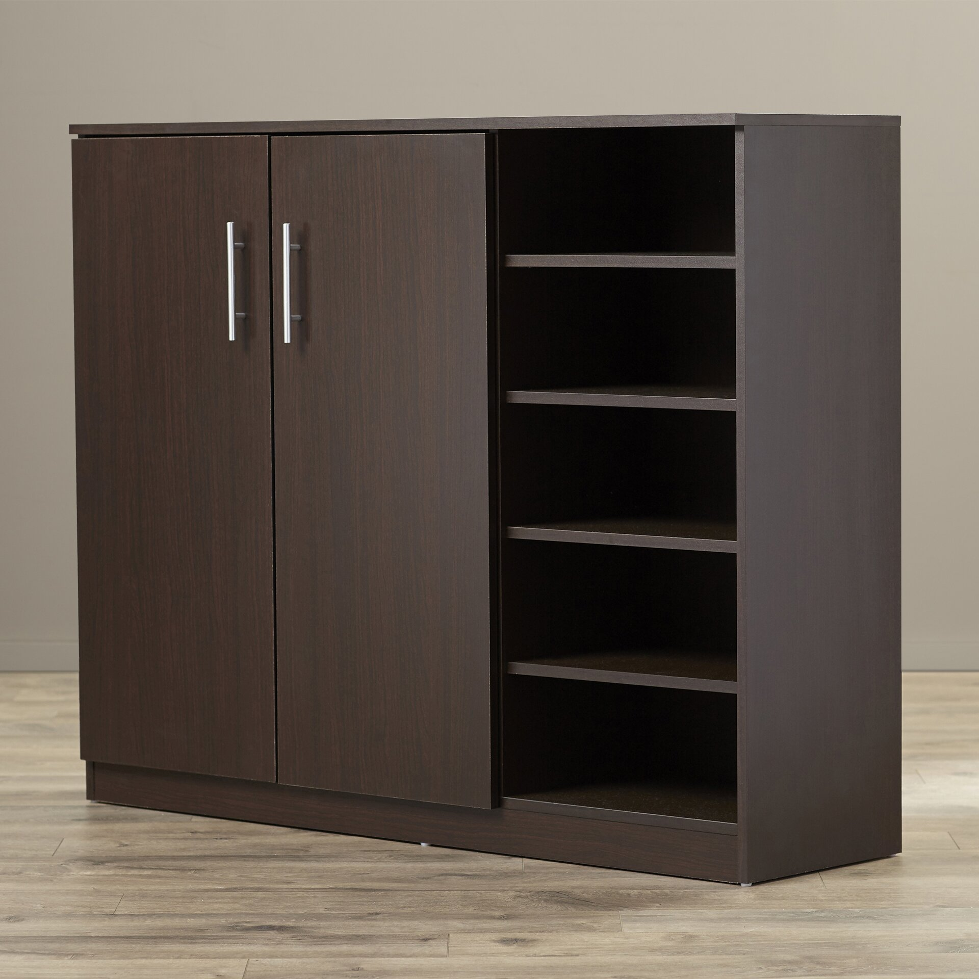 Wade logan zachery shoe cabinet reviews wayfair for Cupboard cabinet designs