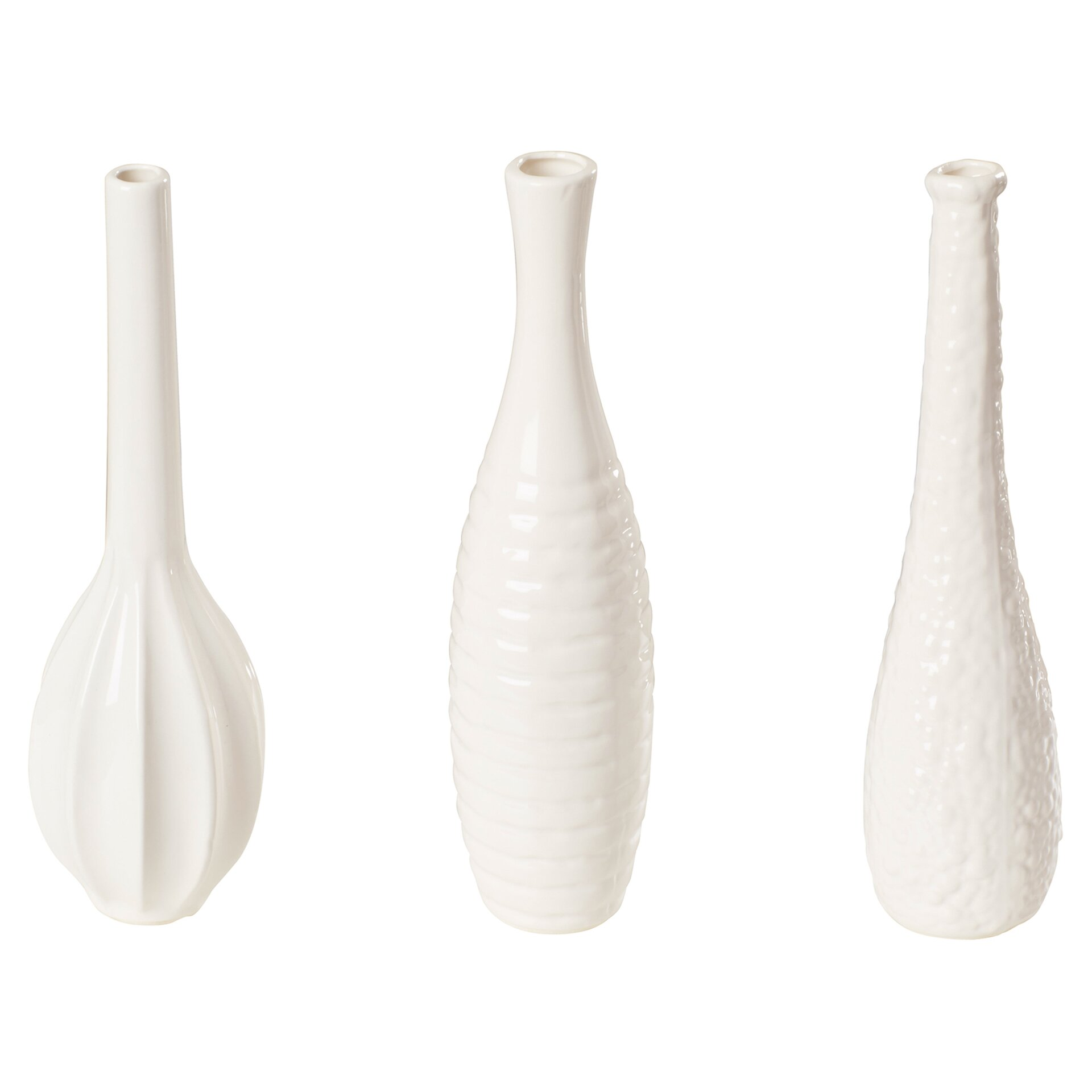 Langford 3 Piece Ceramic Vase Set Wayfair