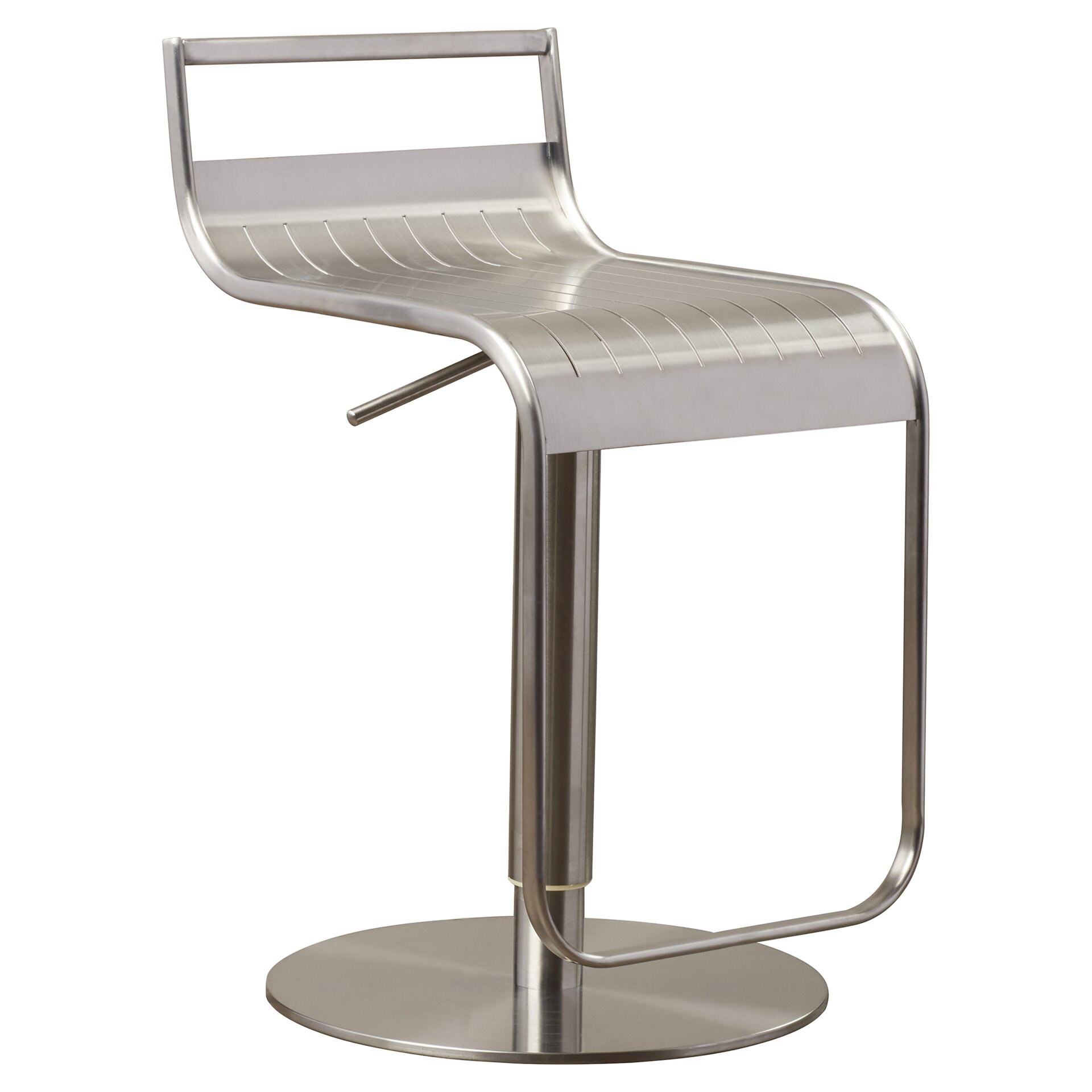 Wade Logan Camerton Adjustable Height Swivel Bar Stool