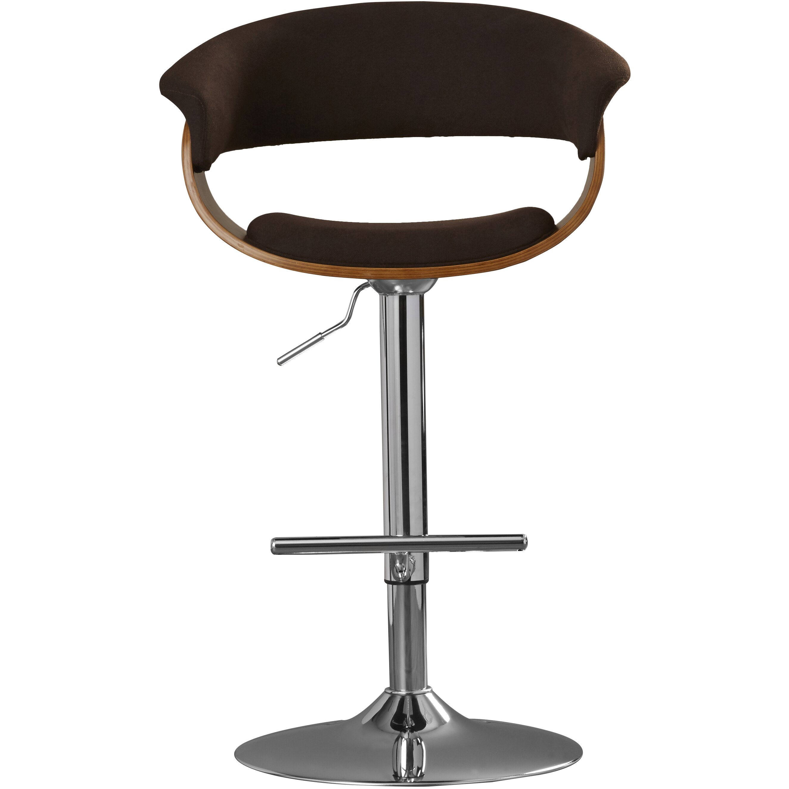 Gale Adjustable Height Swivel Bar Stool Wayfair