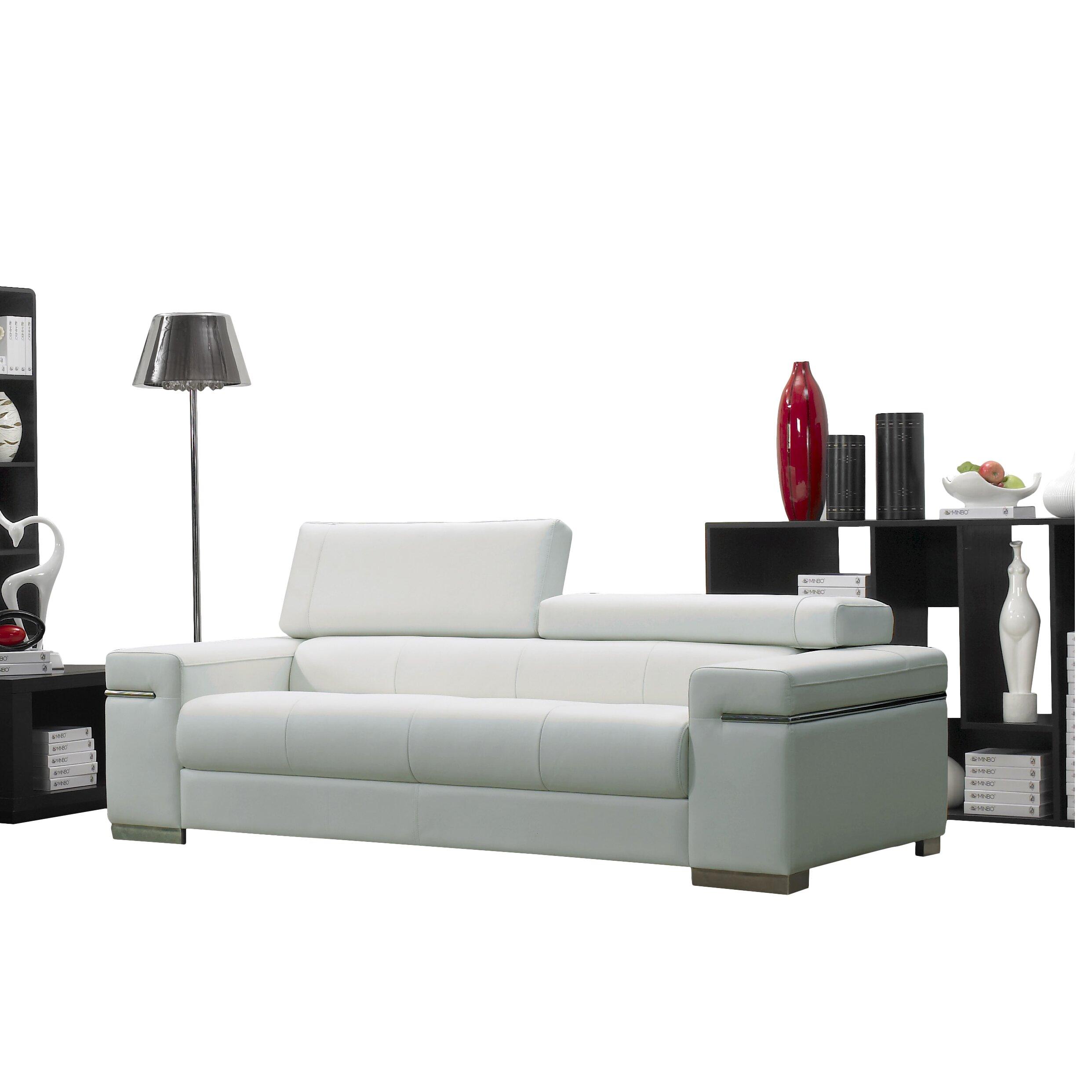 Wade logan orlando leather sofa allmodern for Leather sectional sofa orlando