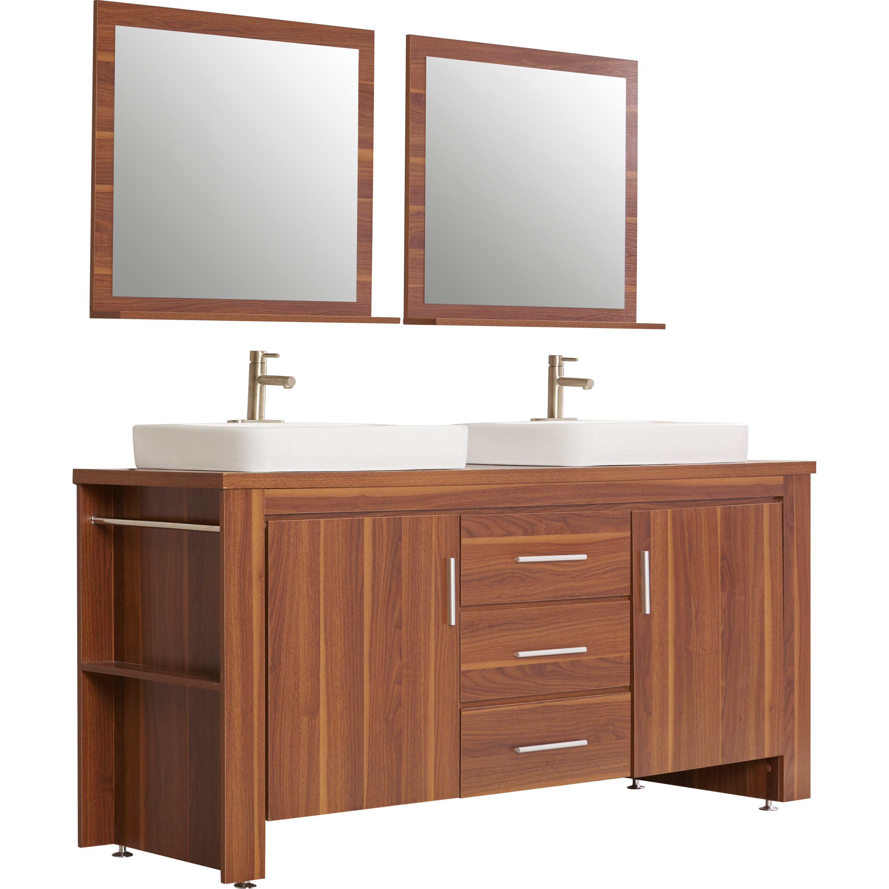 Tadwick 72 Double Bathroom Vanity Set With Mirror Wayfair